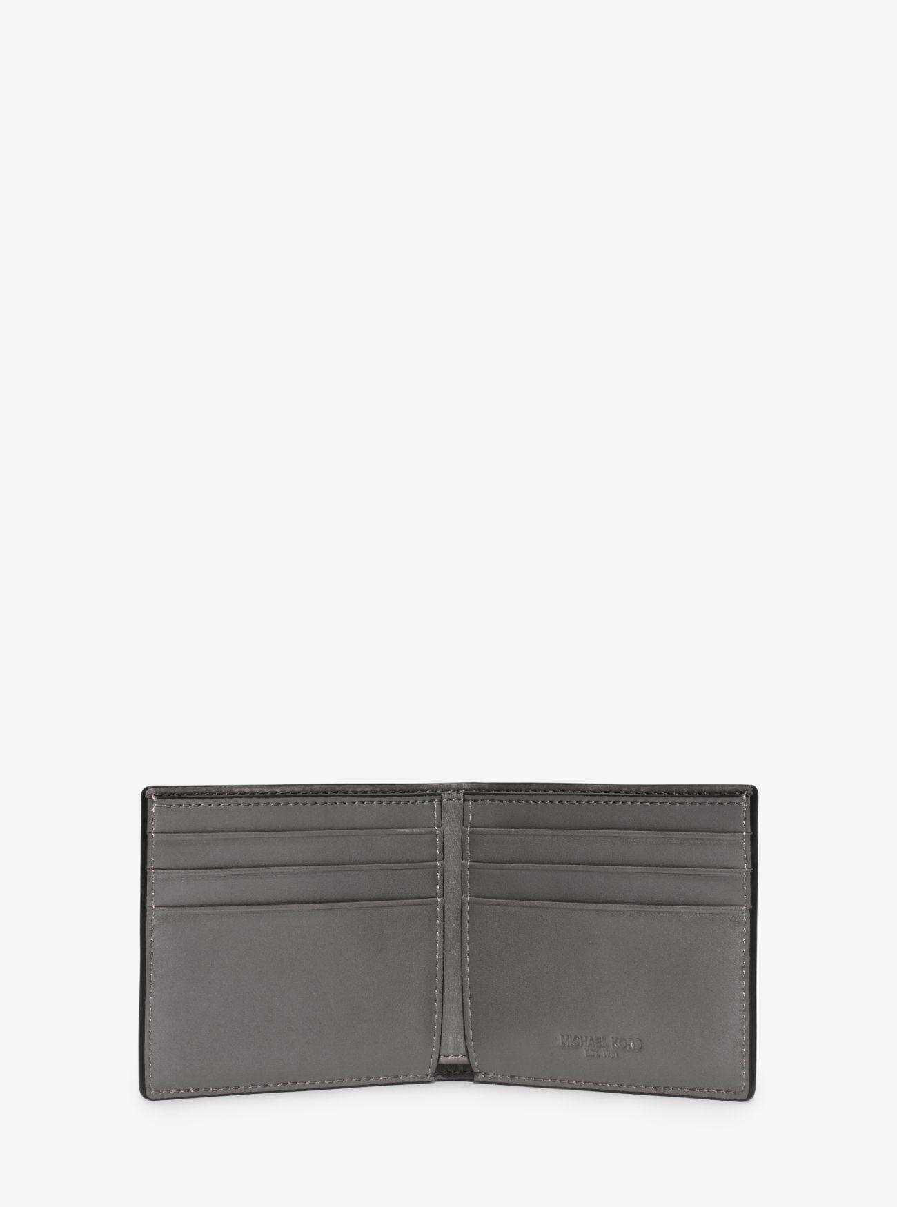fdedfc2f987c Michael Kors - Blue Harrison Leather Slim Billfold Wallet for Men - Lyst.  View fullscreen