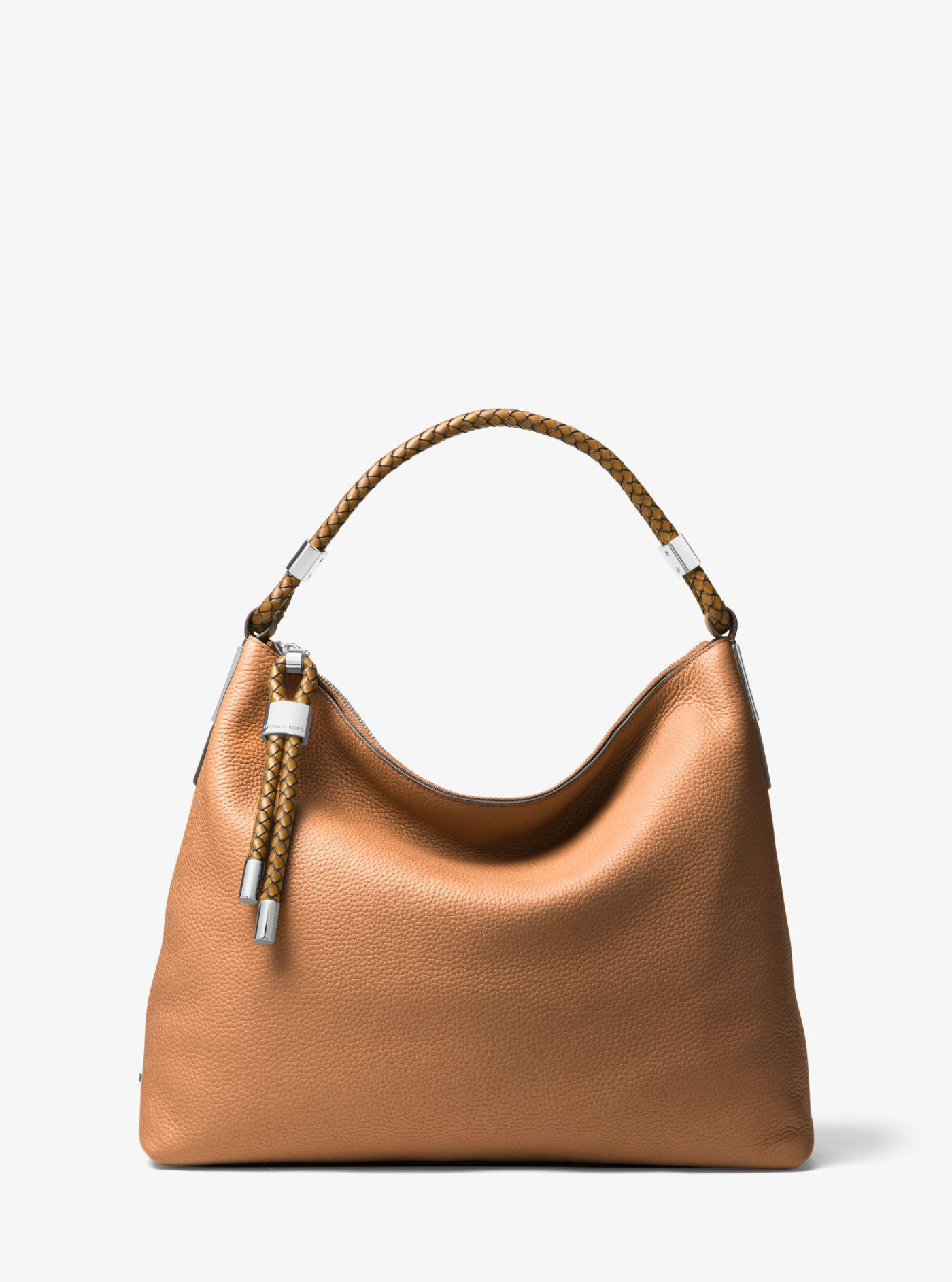 9ac44198f791 Lyst - Michael Kors Skorpios Large Pebbled Leather Shoulder Bag