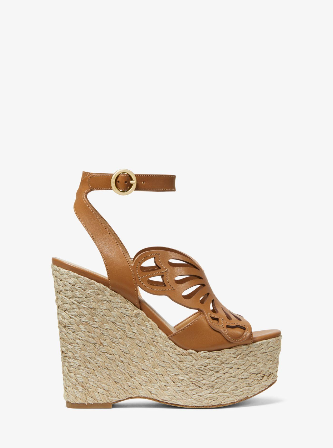 6666876874a7 Michael Kors - Multicolor Felicity Leather Butterfly Wedge - Lyst. View  fullscreen