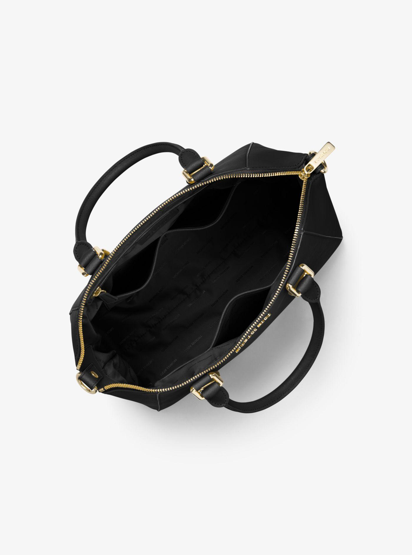 8af6450cd5cd6 Michael Kors - Black Ciara Large Saffiano Leather Satchel - Lyst. View  fullscreen