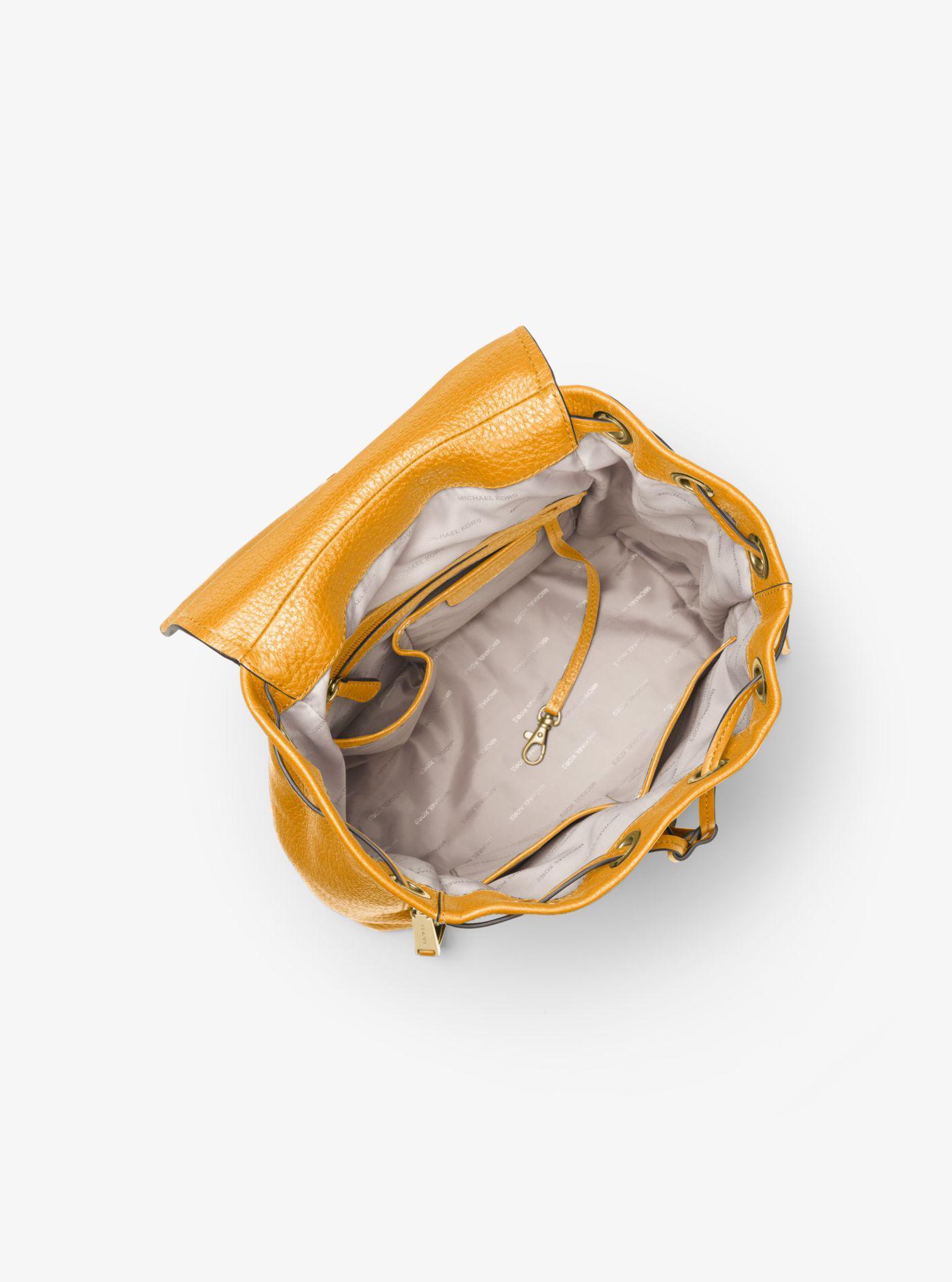 4e7ae070b252 Michael Kors Viv Large Leather Backpack - Lyst