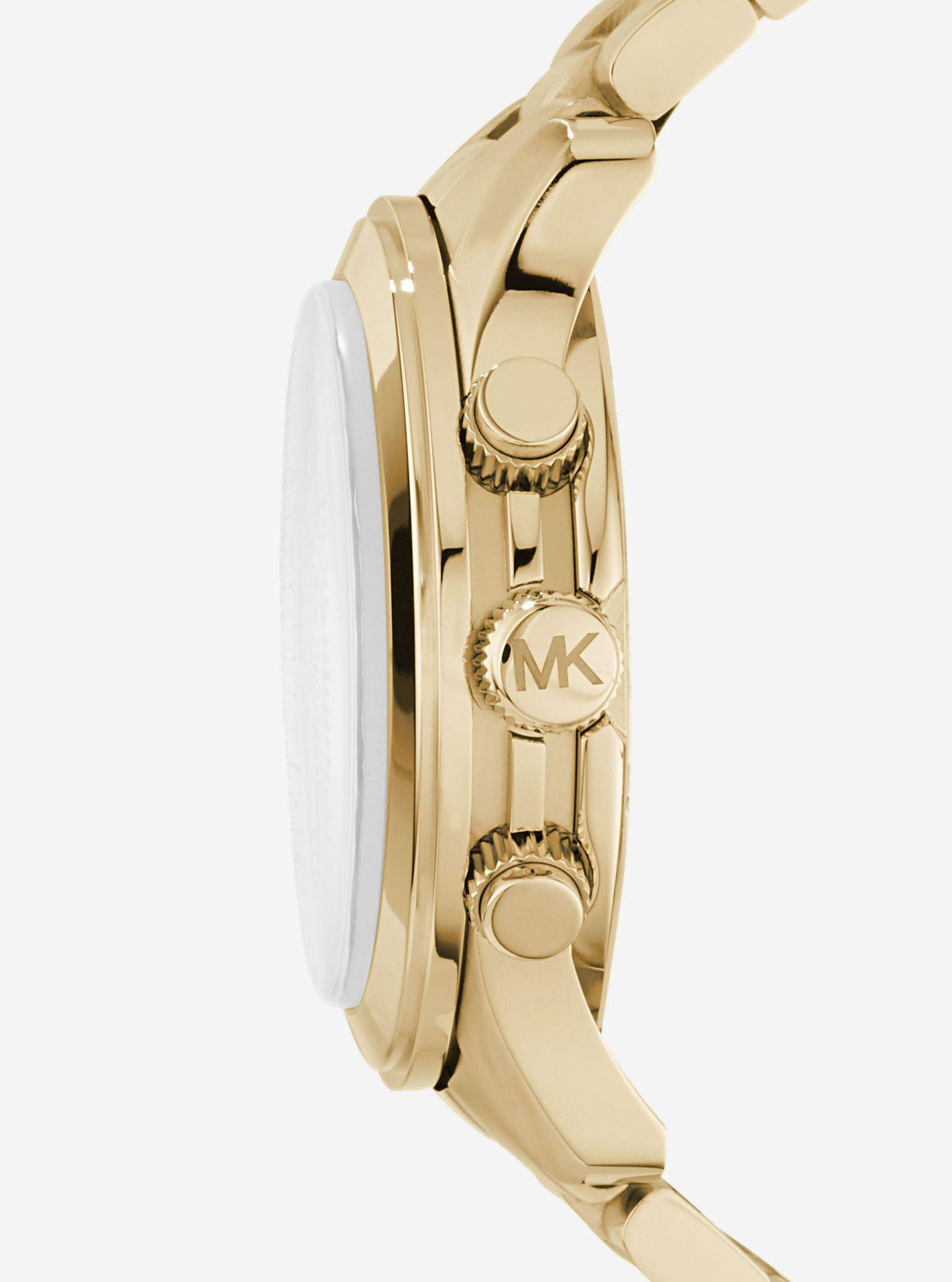 10aac25c9826 Michael Kors - Metallic Runway Oversized Gold-tone Stainless Steel Watch for  Men - Lyst. View fullscreen