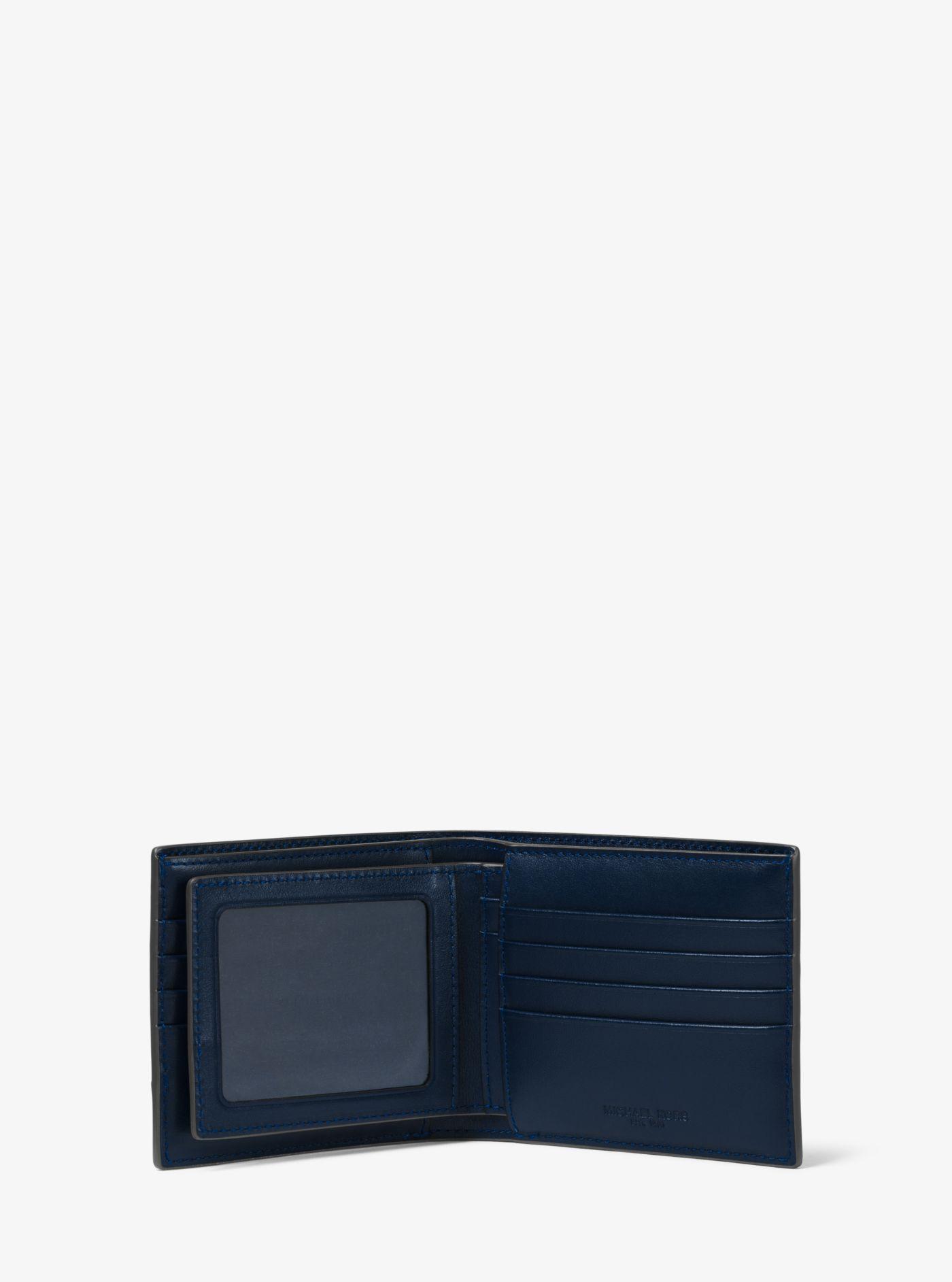 95d4712f61fa Michael Kors - Blue Harrison Crocodile-embossed Leather Id Billfold Wallet  for Men - Lyst. View fullscreen