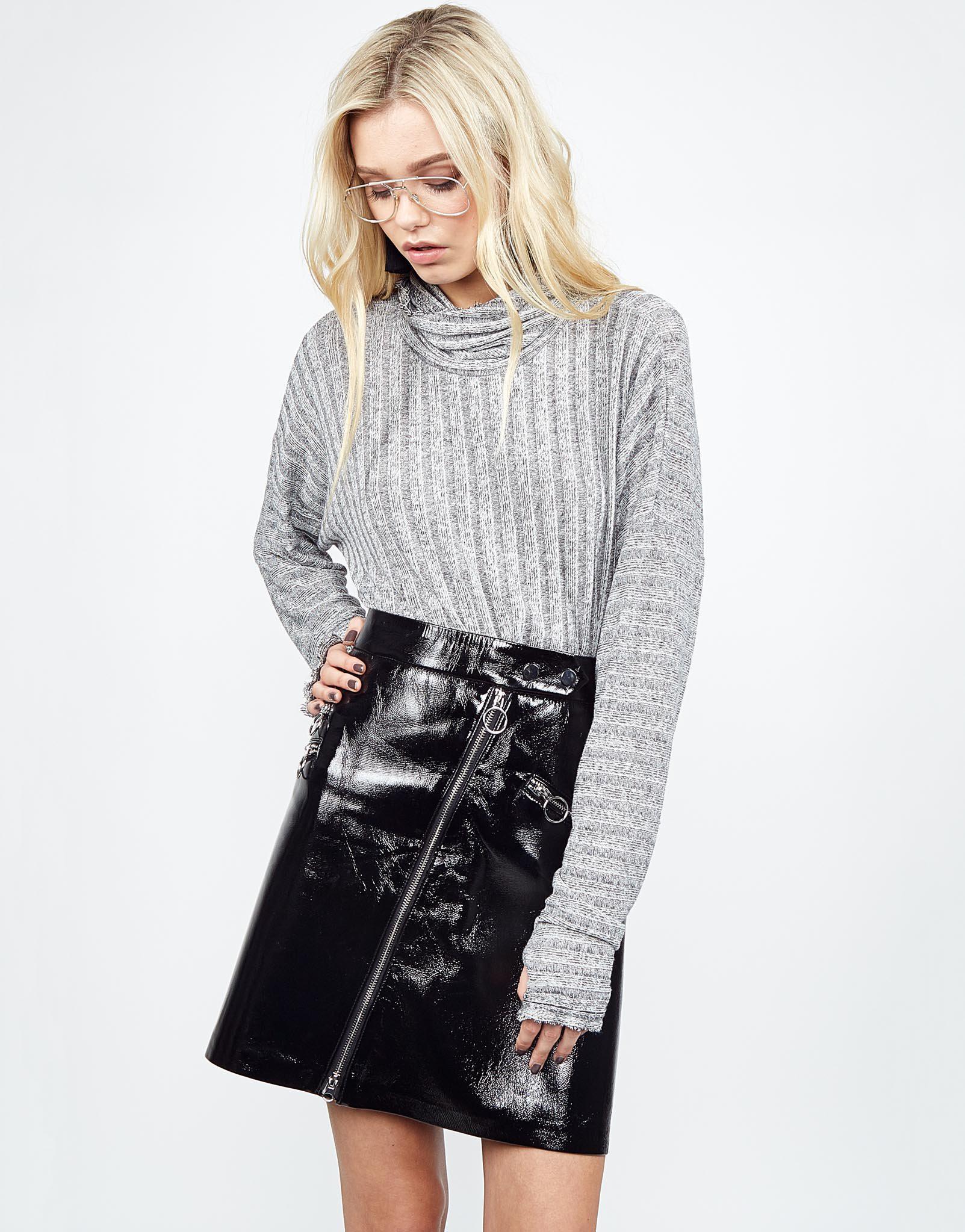 Lyst - Michael Lauren Pan Turtleneck Sweater in Gray 66dcdce92