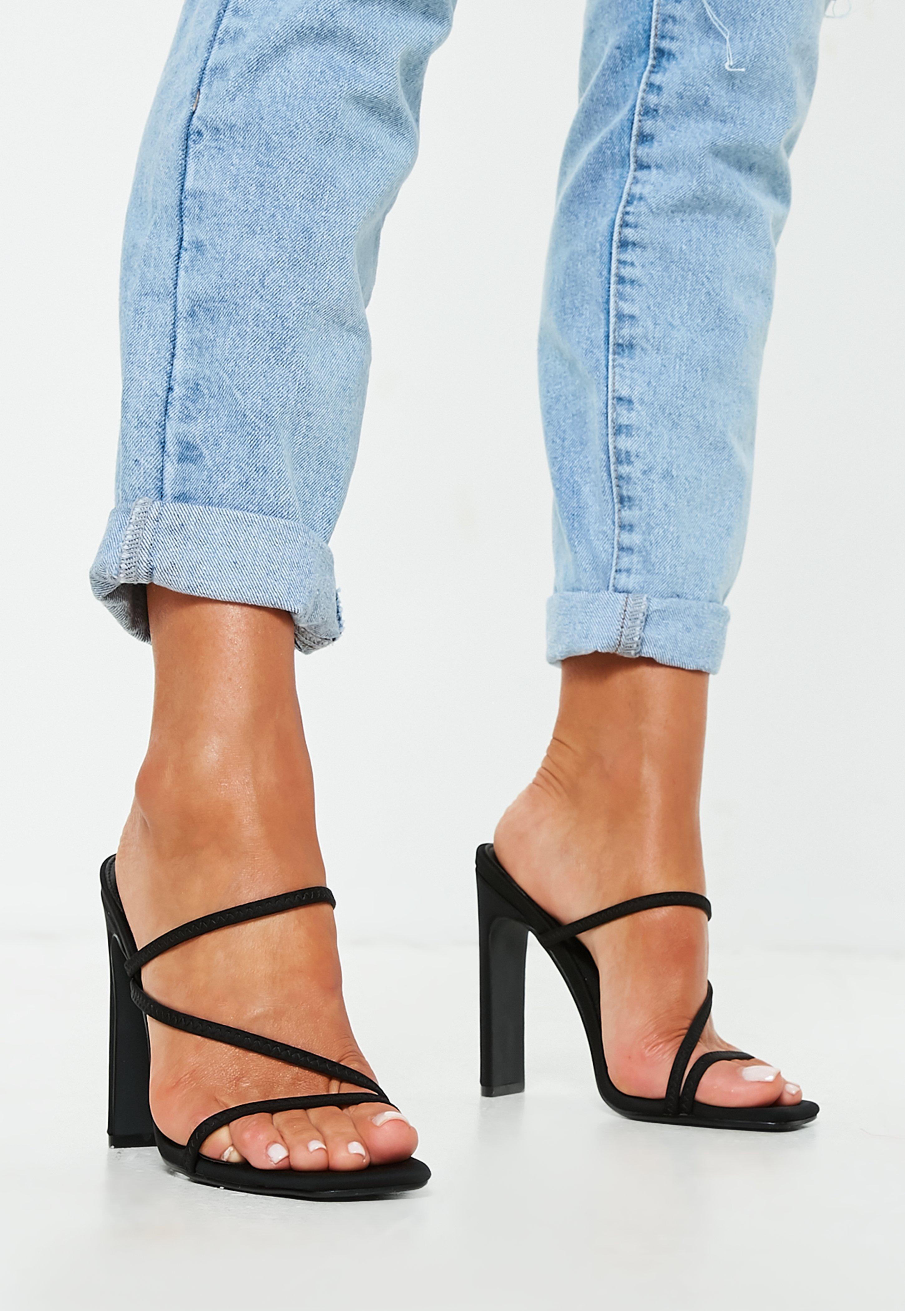 151075d94b84 Lyst - Missguided Black Multi Strap Mules in Black