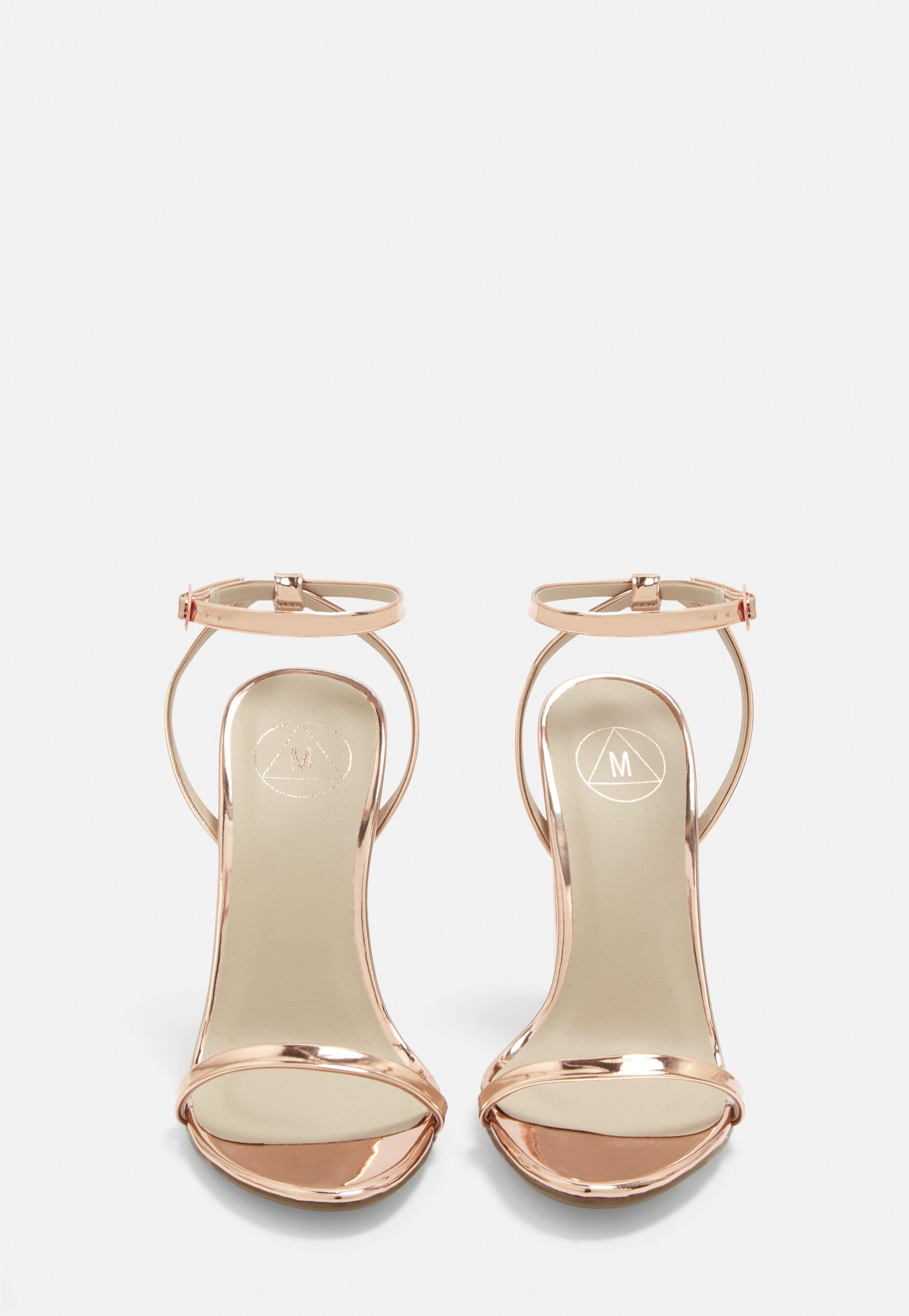 57dacfc40f5 Missguided - Multicolor Rose Gold Block Heel Sandals - Lyst. View fullscreen