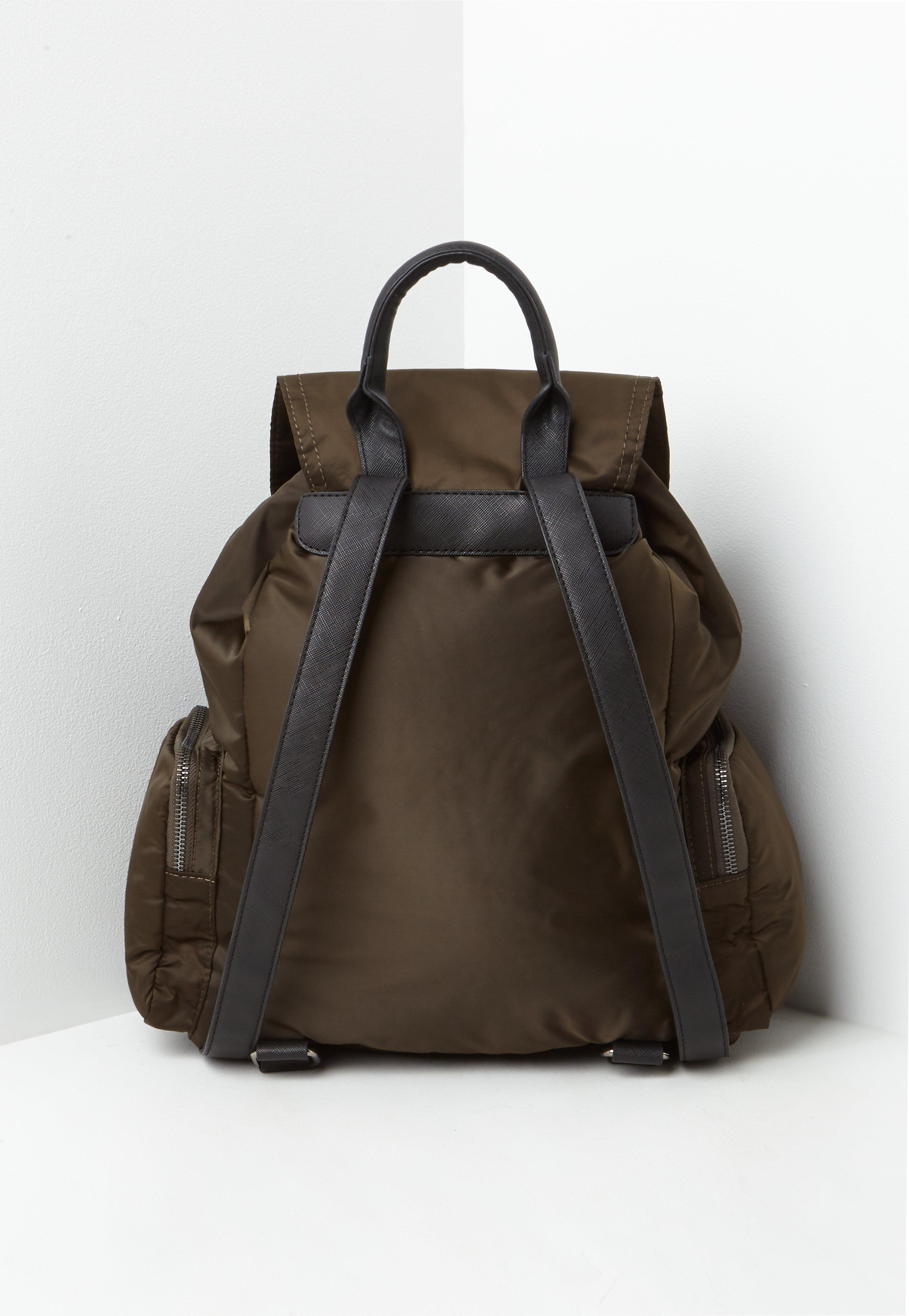 ec11648a9c Lyst - Missguided Khaki 3 Pocket Nylon Backpack