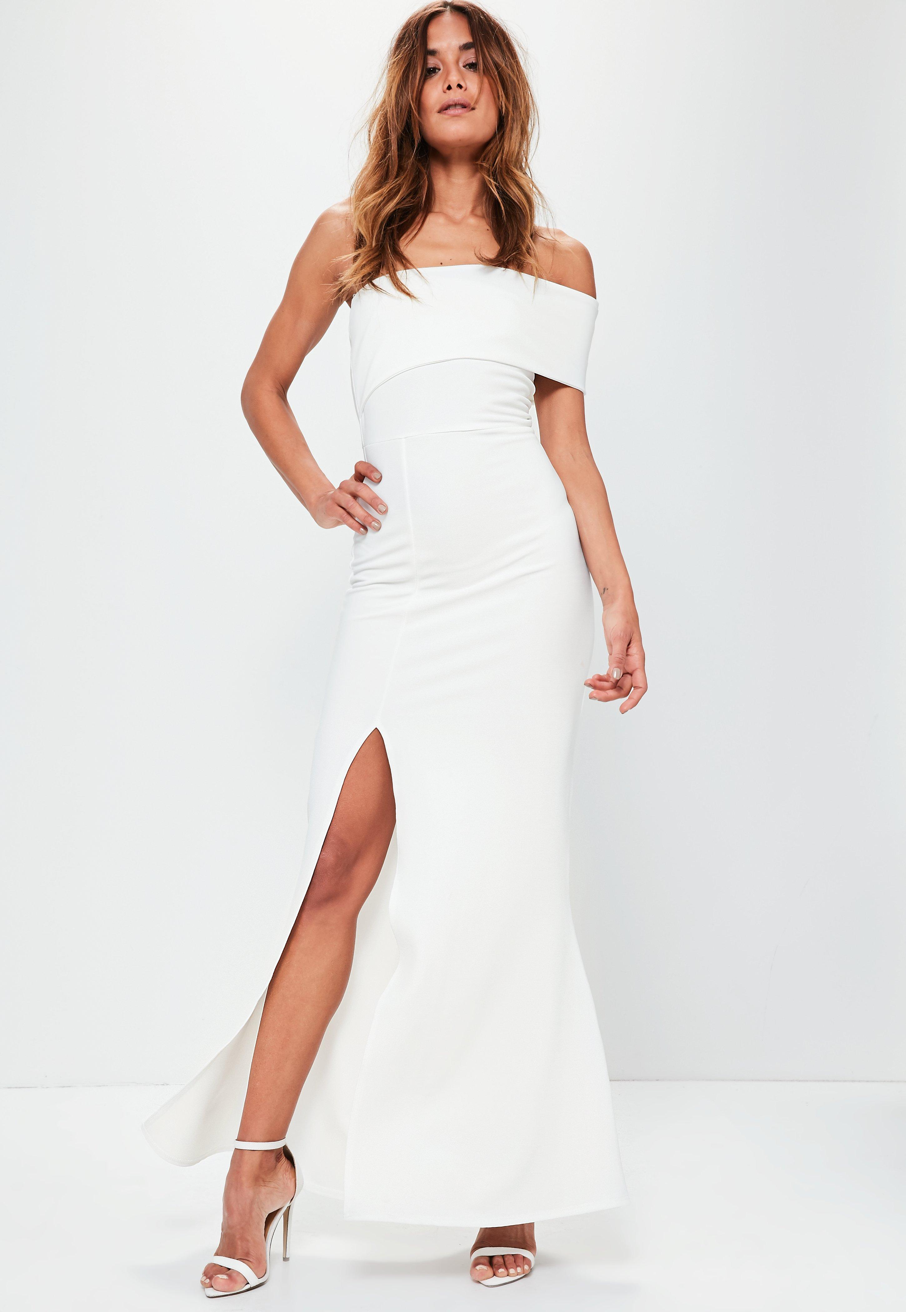 615d49ce9fd Missguided White One Shoulder Maxi Dress in White - Lyst