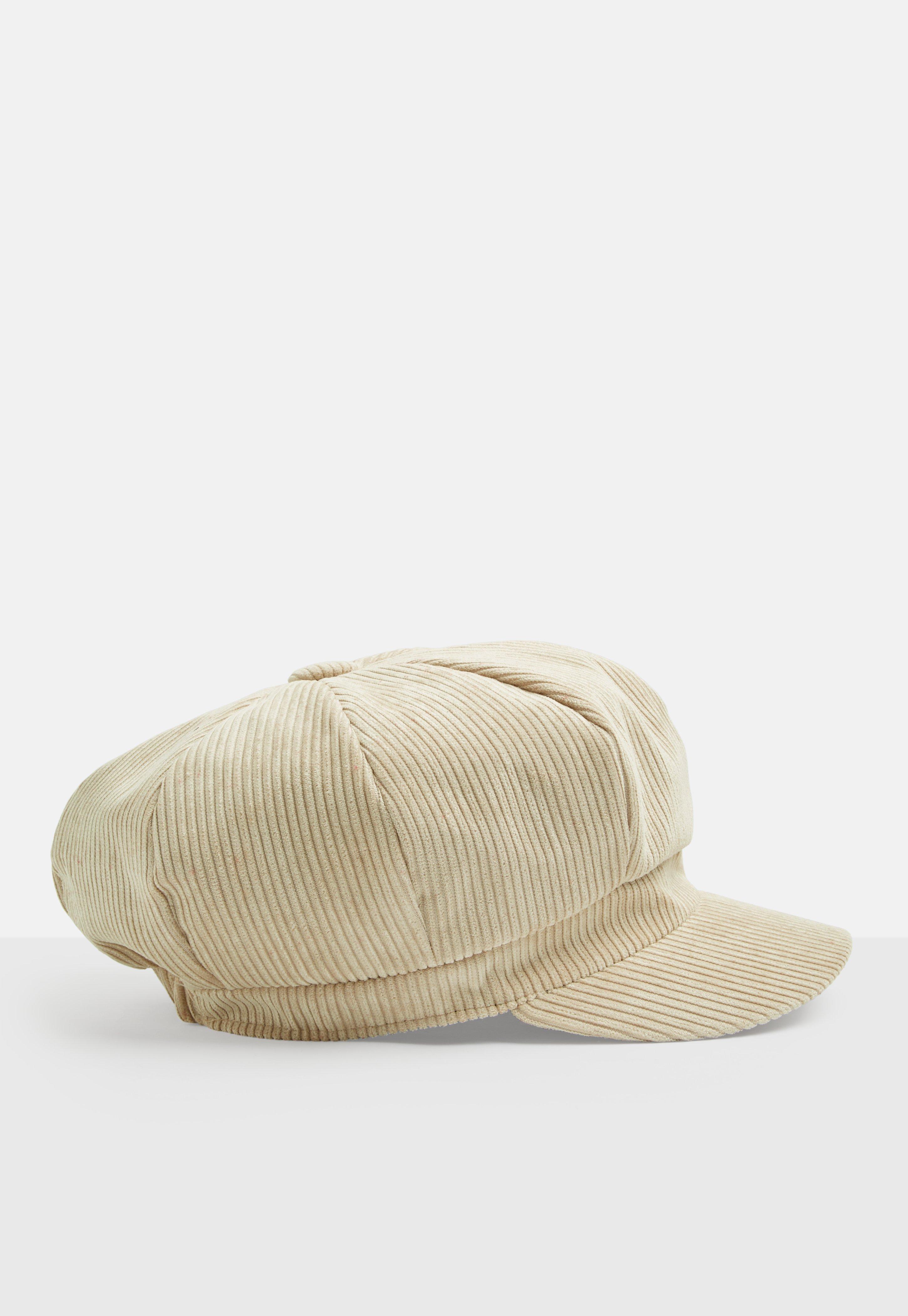 Lyst - Missguided Cream Corduroy Baker Boy Hat e1703a55d02