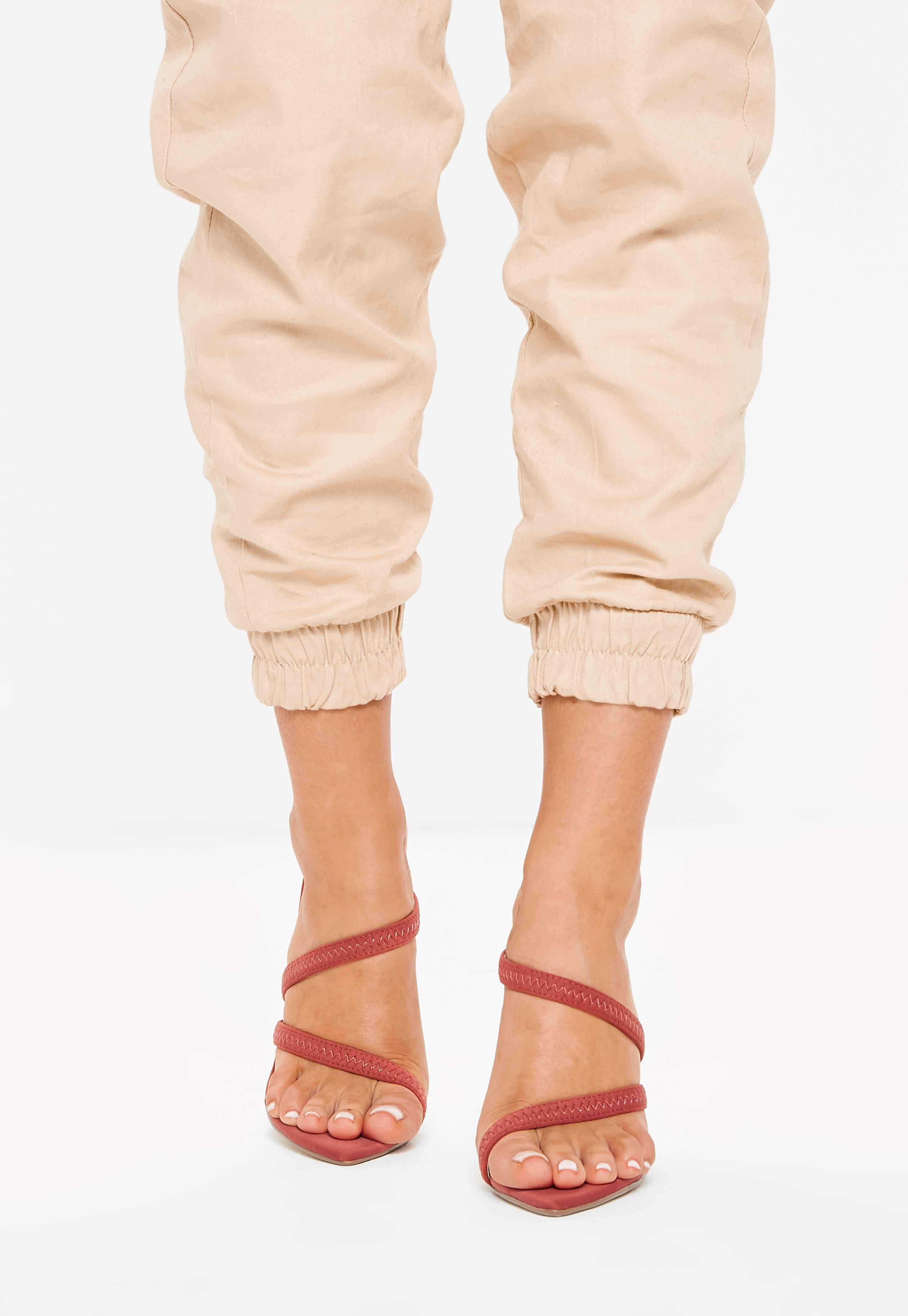 8e6ea09a92fe Missguided - Natural Terracotta Pointed Toe Barely There Heels - Lyst. View  fullscreen