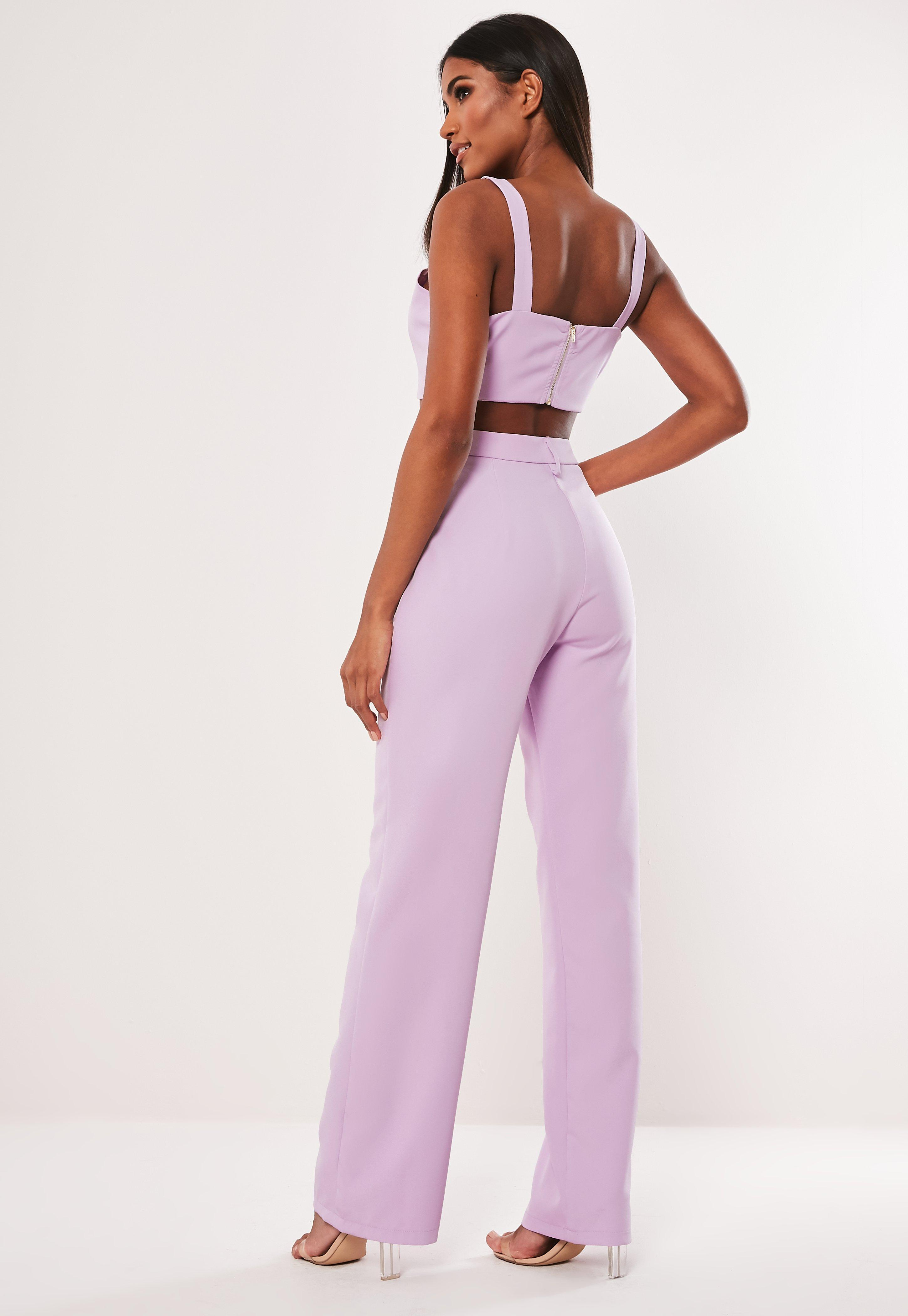 dea37650f71c Lyst - Missguided Lilac Co Ord Straight Leg Pants in Purple