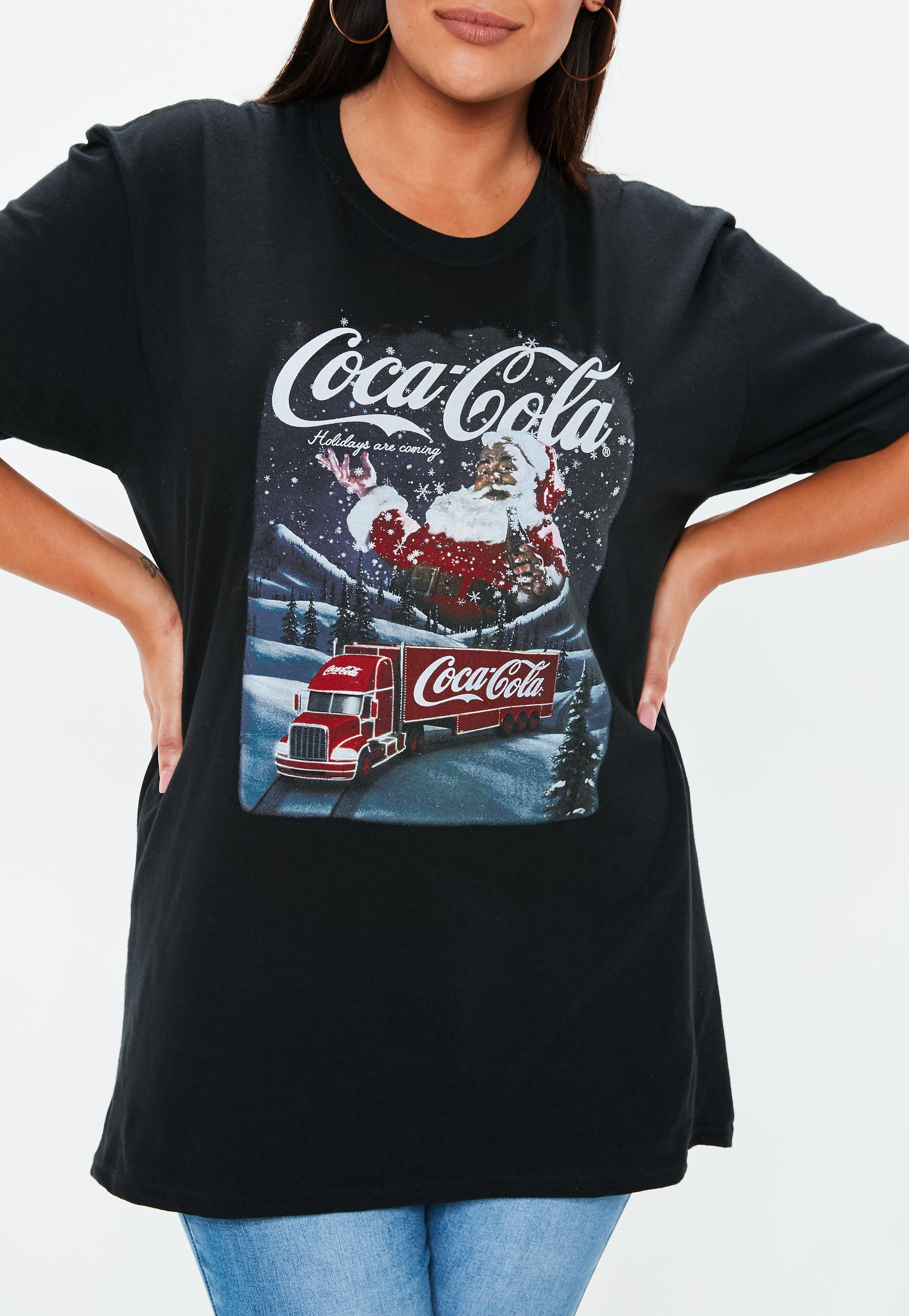 4ffa6bdadab Missguided - Plus Size Black Coca Cola T Shirt - Lyst. View fullscreen