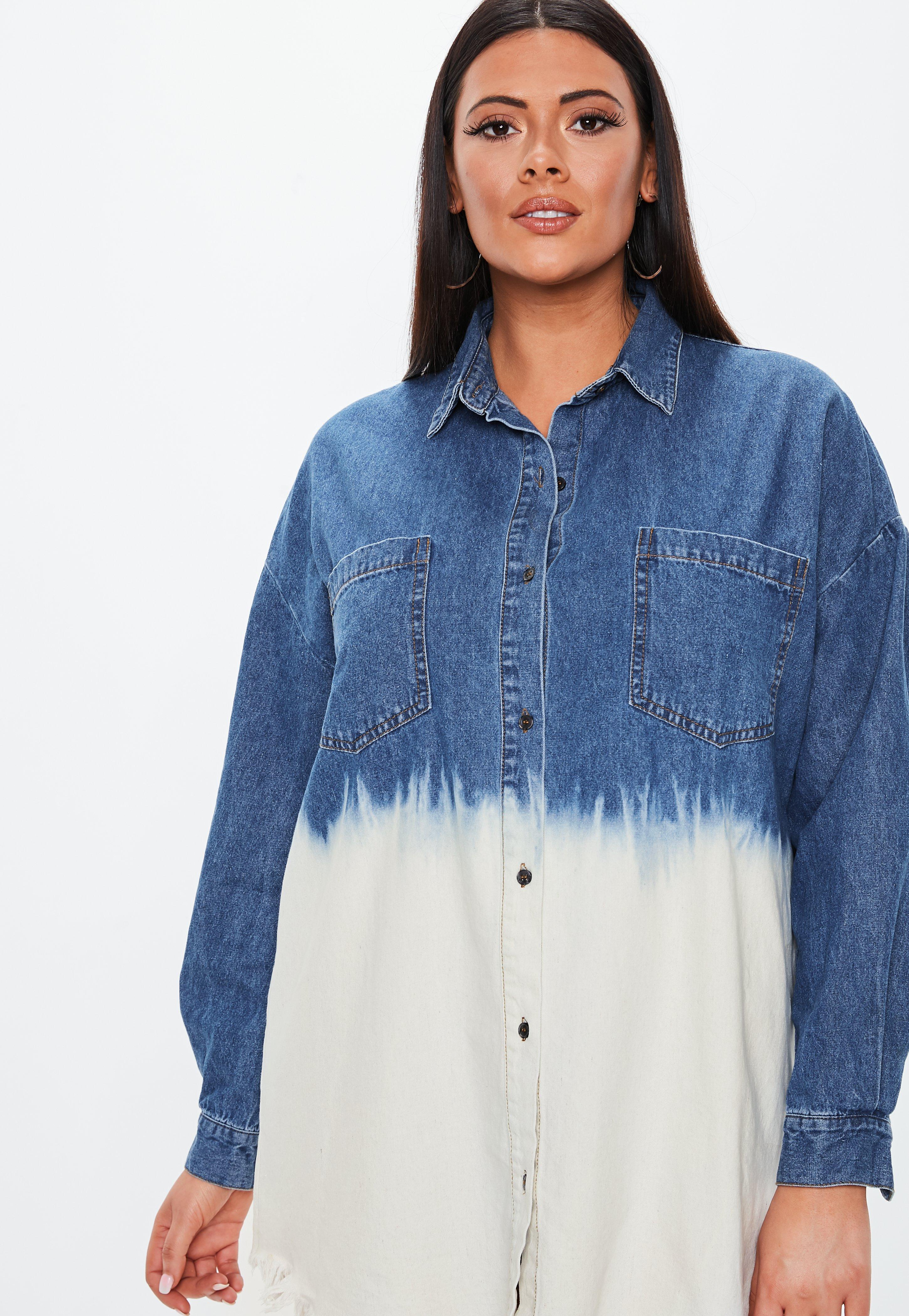 2f89a340bf9 Plus Size Oversized Denim Shirt Dress - Data Dynamic AG