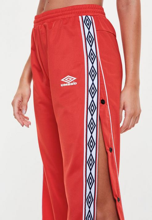 902918e2e9 Missguided Umbro X Red Tape Leg Tricot Track Pant in Red - Lyst