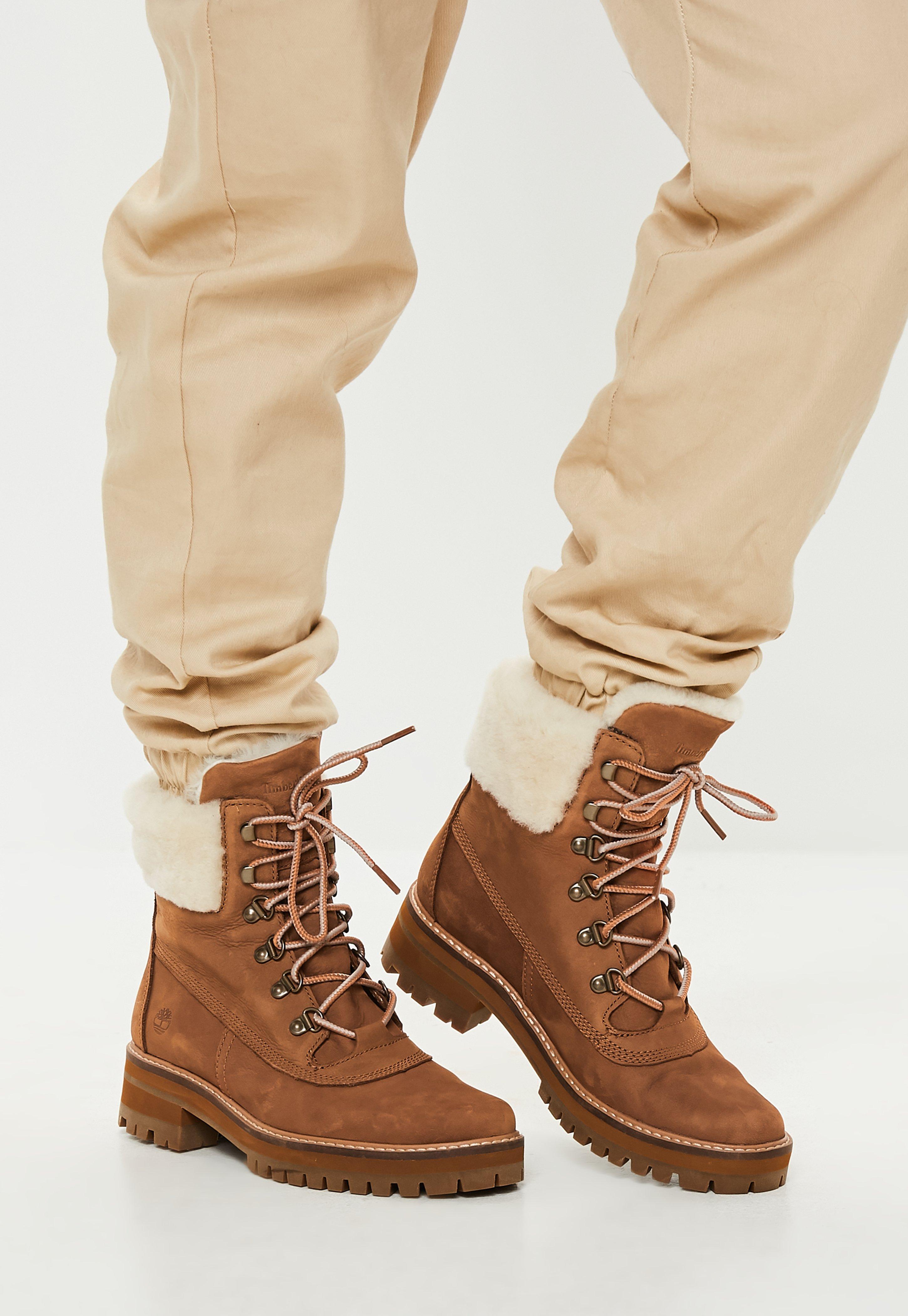 0b67079db1d Missguided. Women s Timberland Rust Courmayeur Valley Shearling Boots