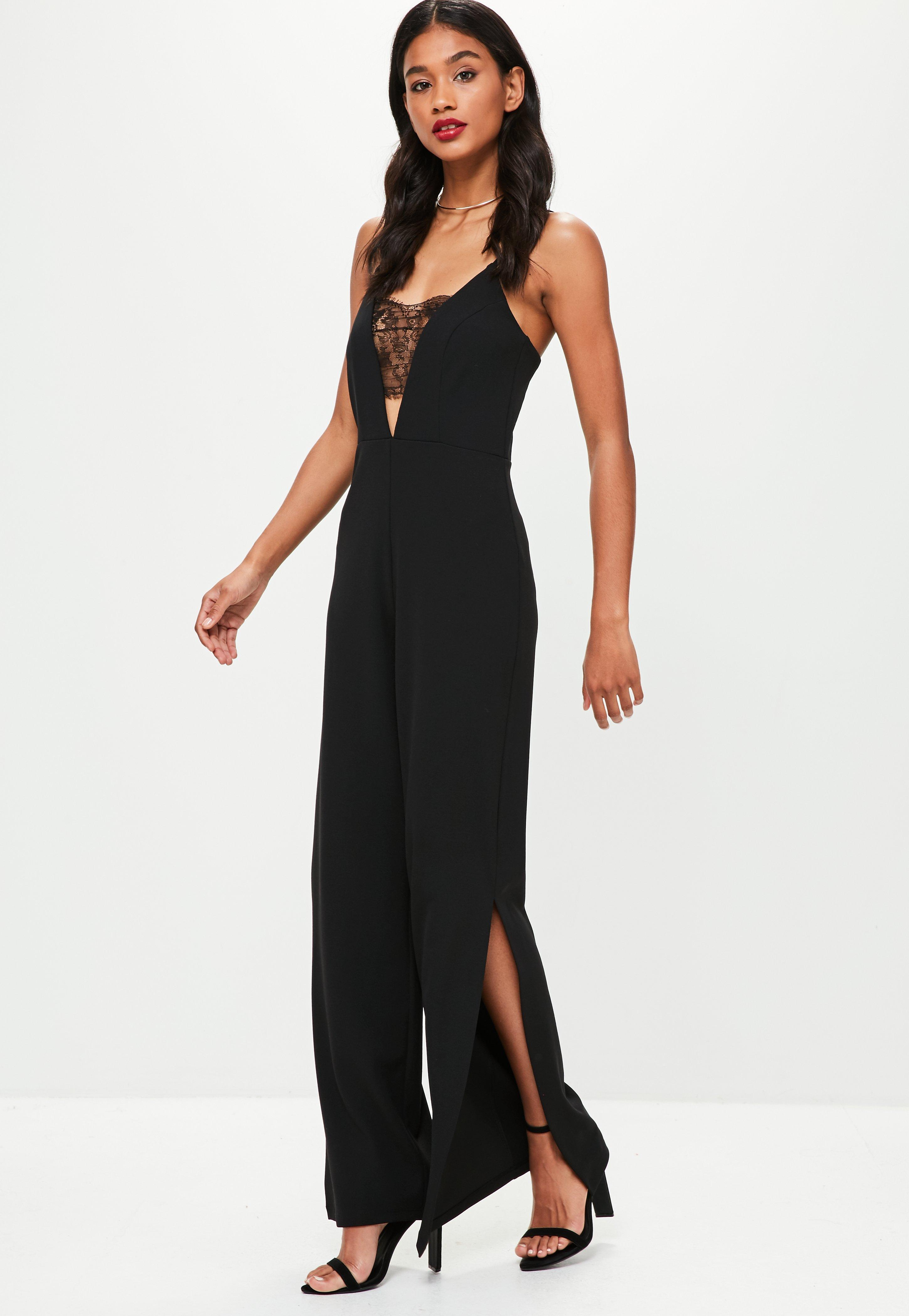 0ca5c2bf42df Gallery. Previously sold at: Missguided · Women's Black Jumpsuits ...