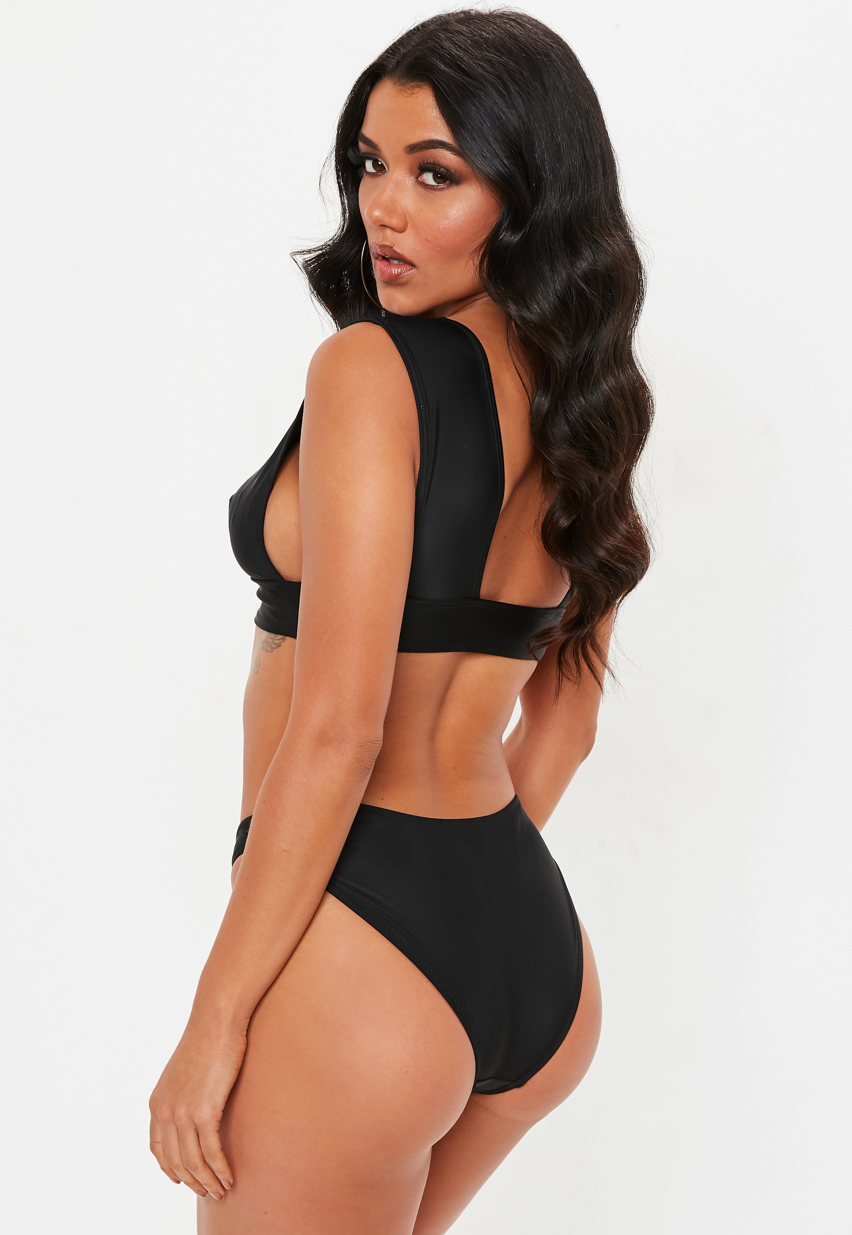 f4f6c8135ce Missguided - Black Triangle Bikini Top Mix & Match - Lyst. View fullscreen