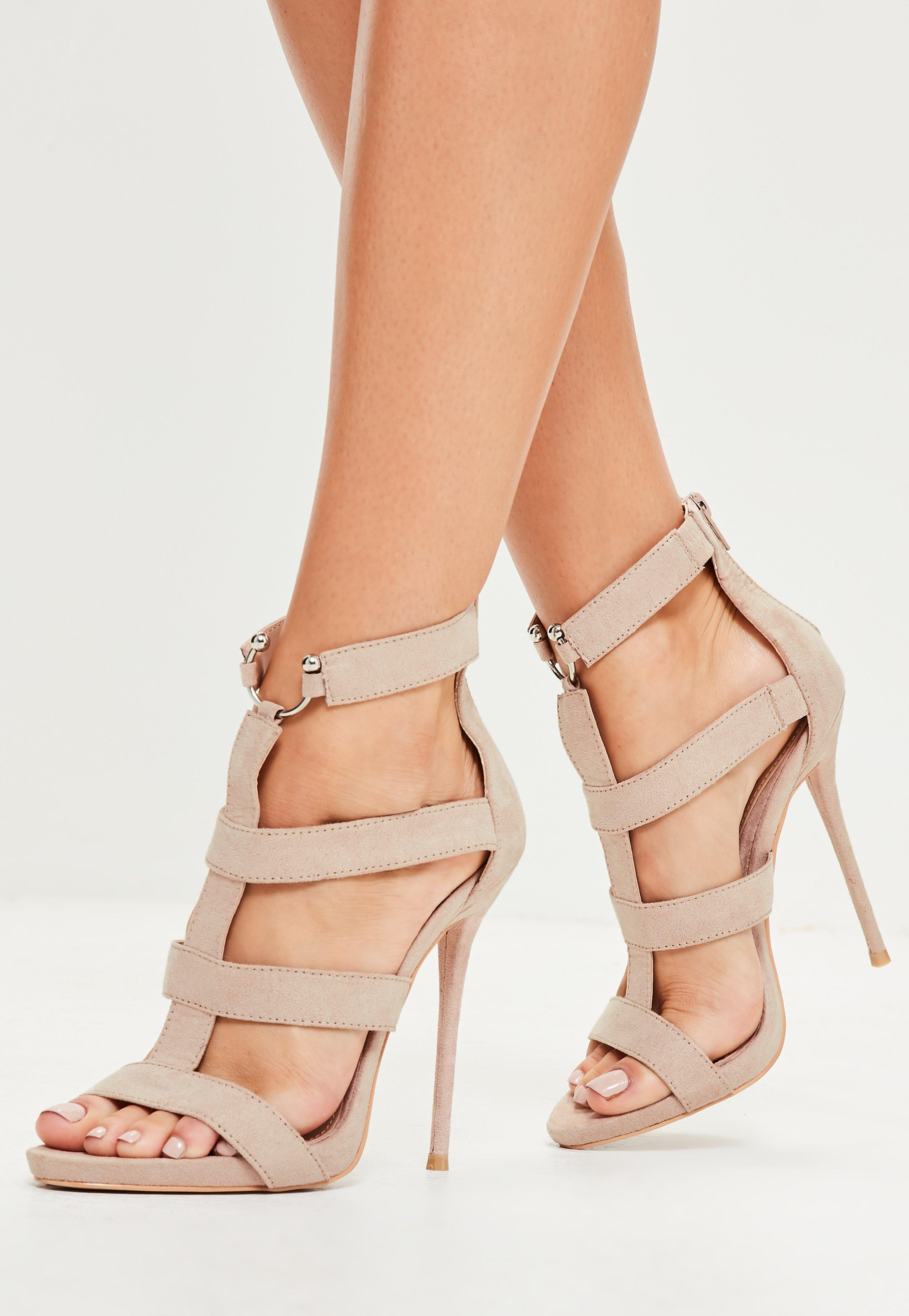 e2456ed2a28 Missguided Nude Bullring Gladiator Strappy Sandals in Natural - Lyst