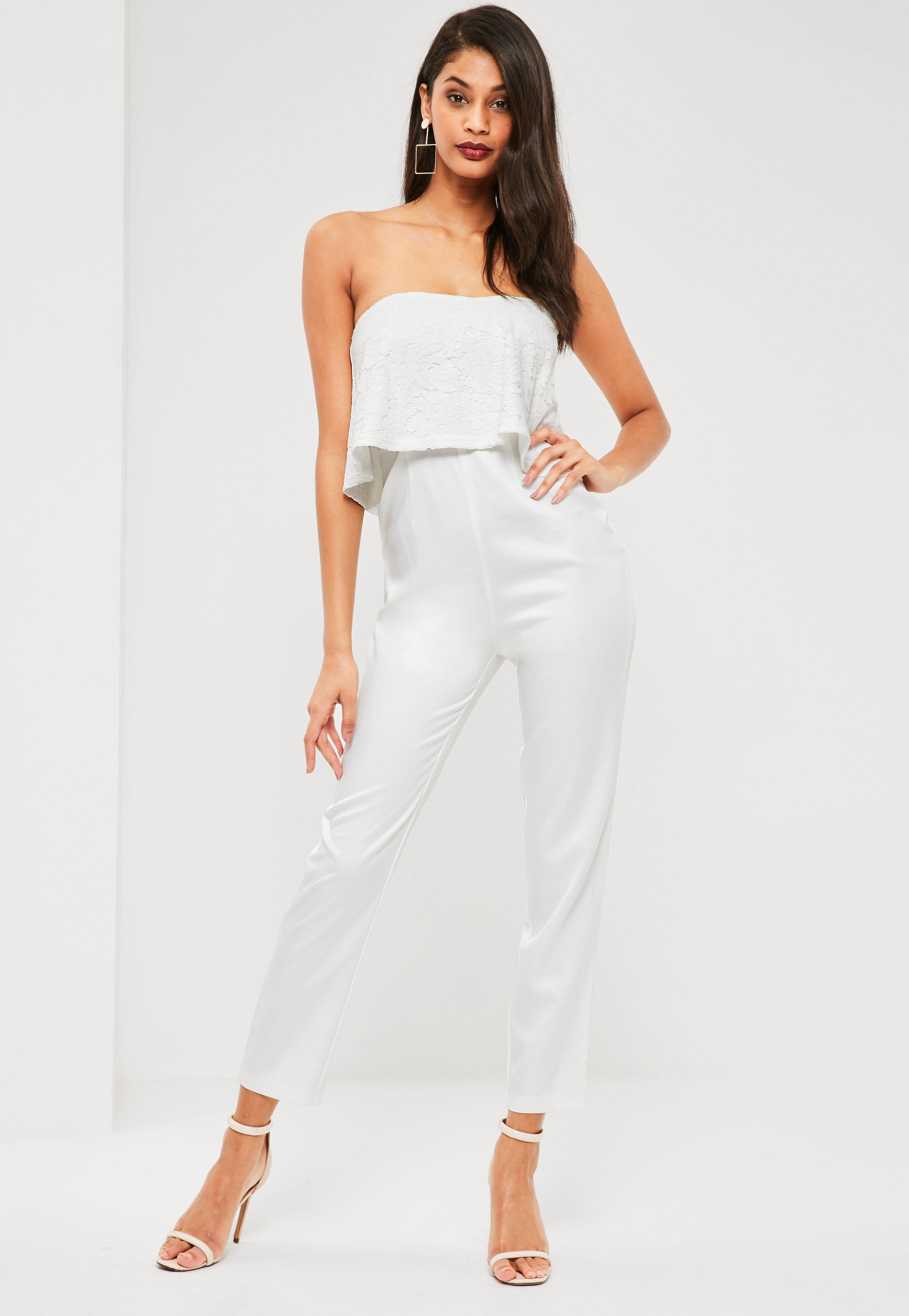 9b349494cef4 Gallery. Previously sold at  Missguided · Women s Bandeau Tops Women s  Ruffle Jumpsuits Women s Lace ...