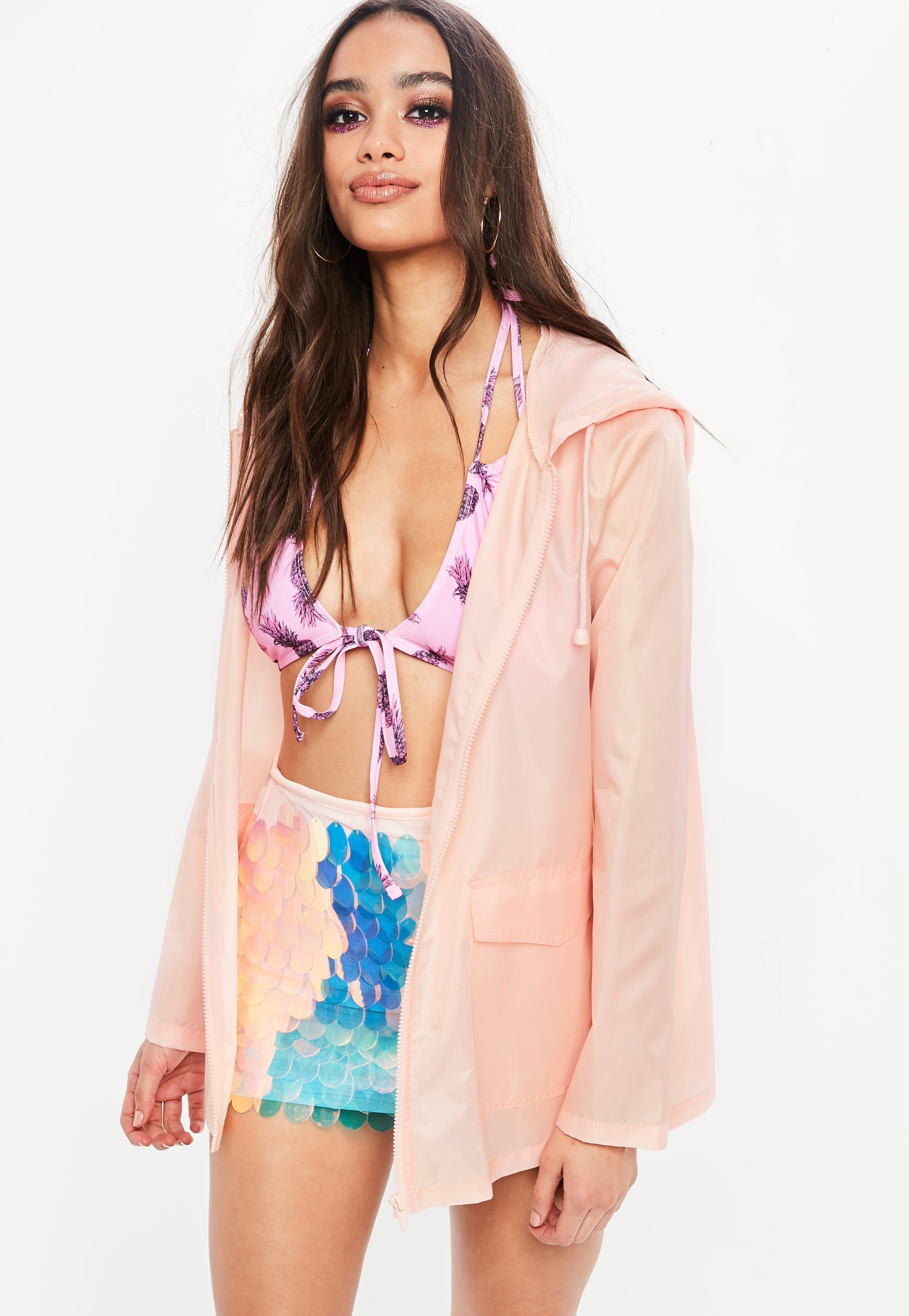 Missguided Pink Plain A Pac A Mac Jacket Cheap New Arrival Browse Cheap Online Buy Cheap Best Sale DHeMx5qUBo