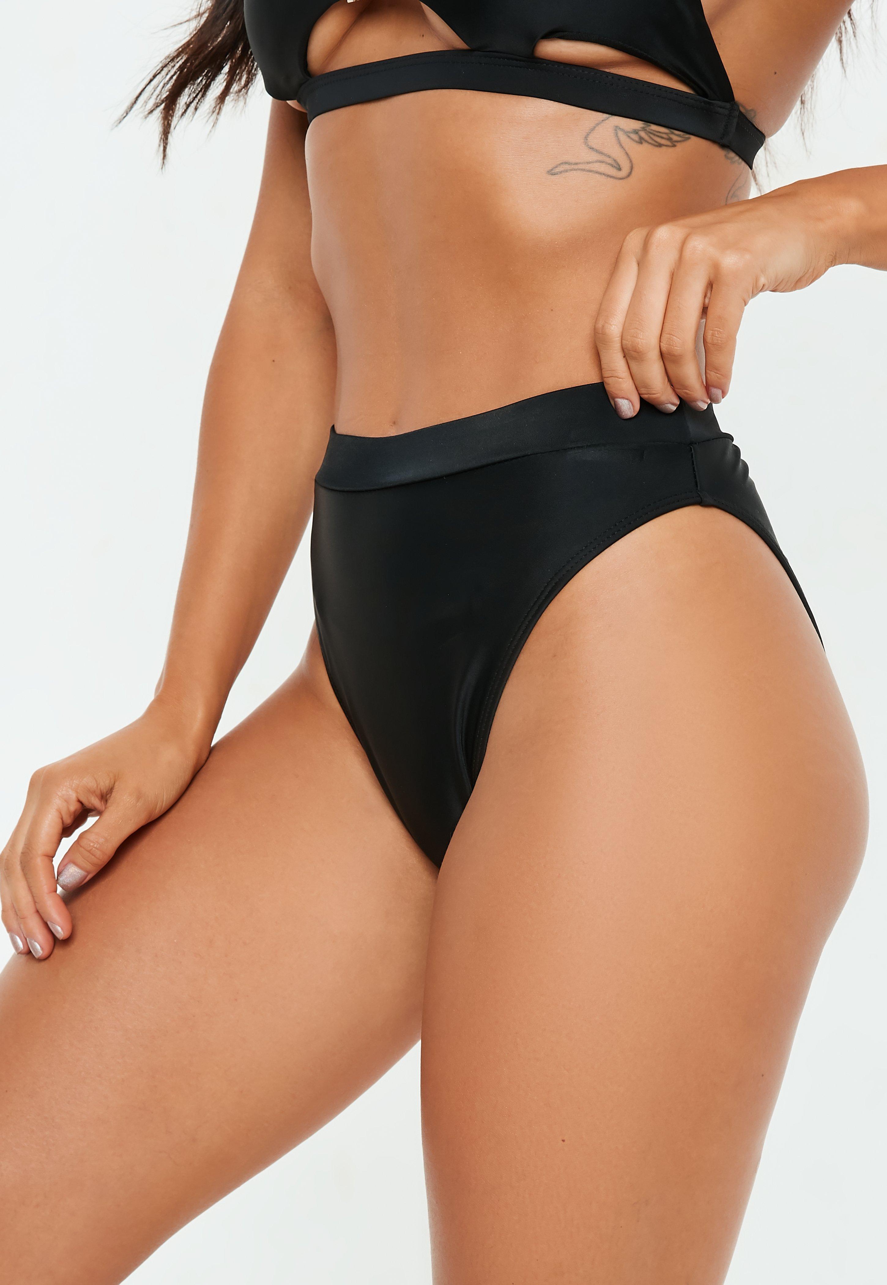 29fd4b43c07e3 Missguided. Women s Black Mix And Match High Waisted High Leg Bikini Bottoms