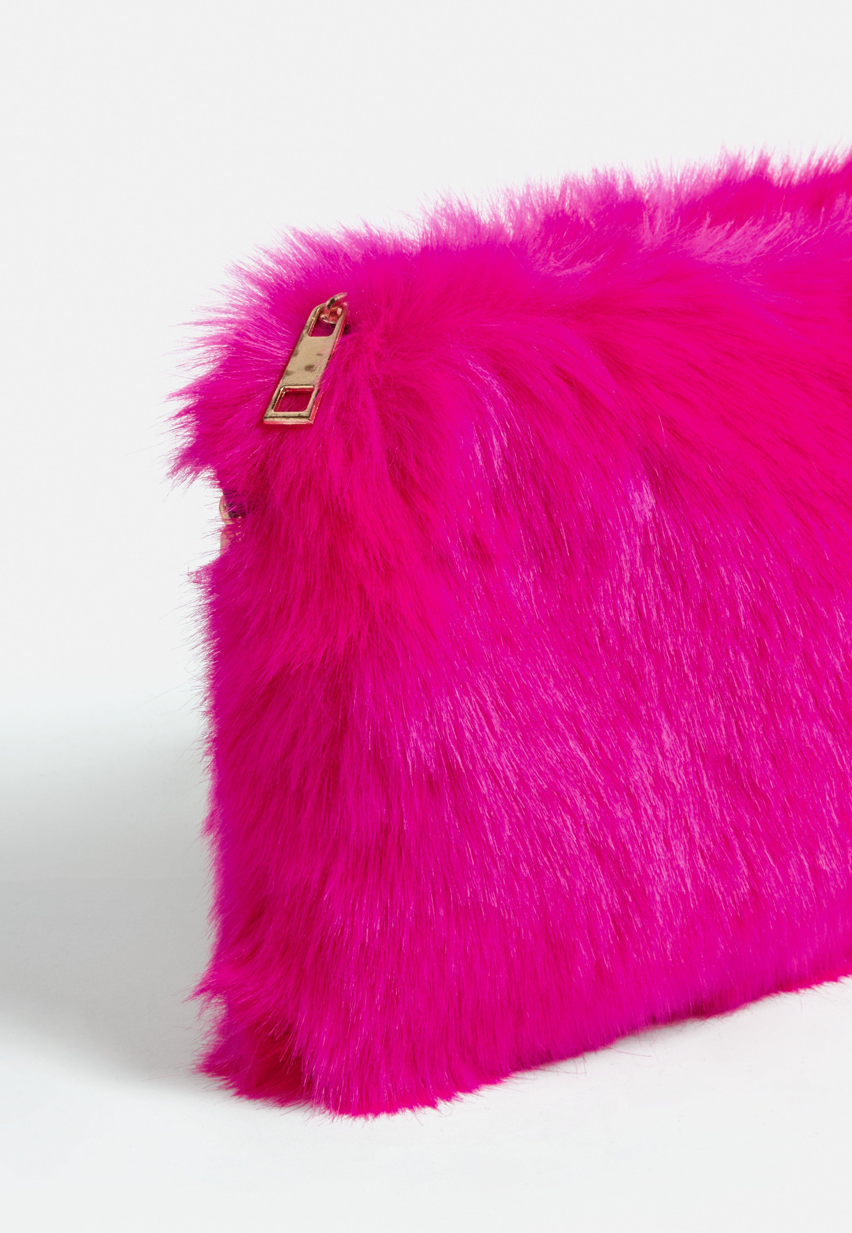 Lyst - Missguided Neon Pink Faux Fur Shoulder Bag in Pink 0cf00c515aec3