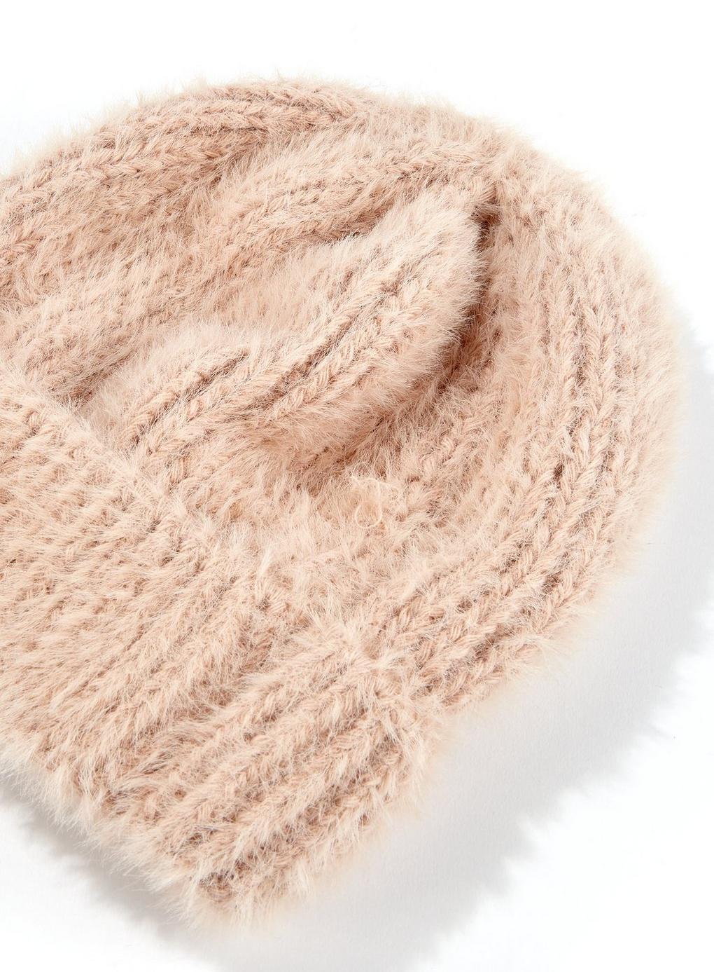 54f04ca7ba49a Miss Selfridge - Natural Nude Super Soft Beanie - Lyst. View fullscreen