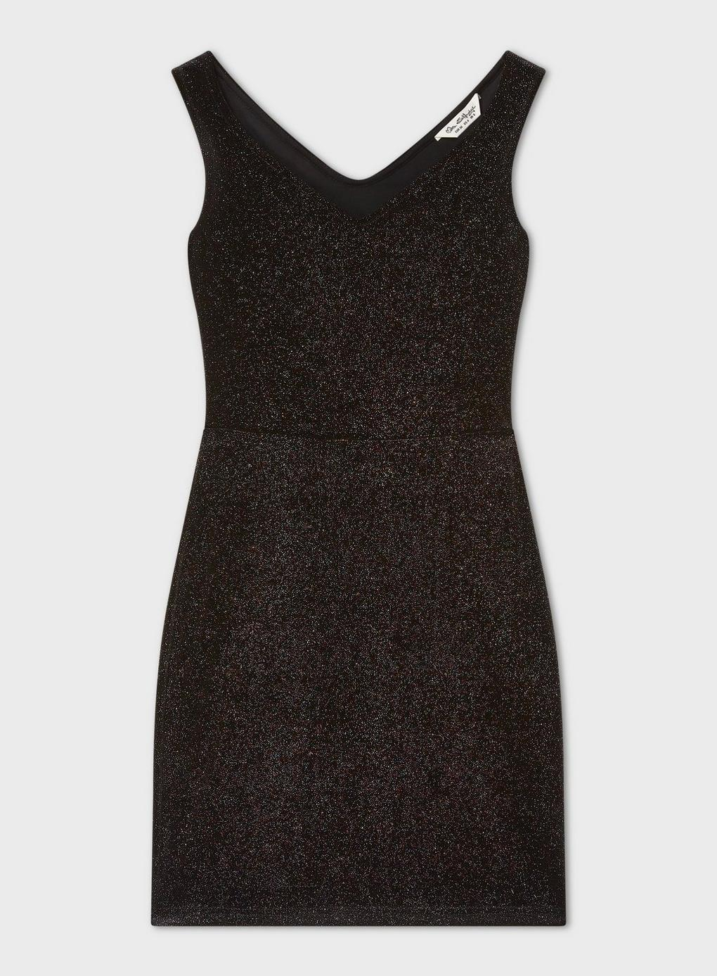 9d552b6fd5 Miss Selfridge - Black Glitter Bardot Dress - Lyst. View fullscreen