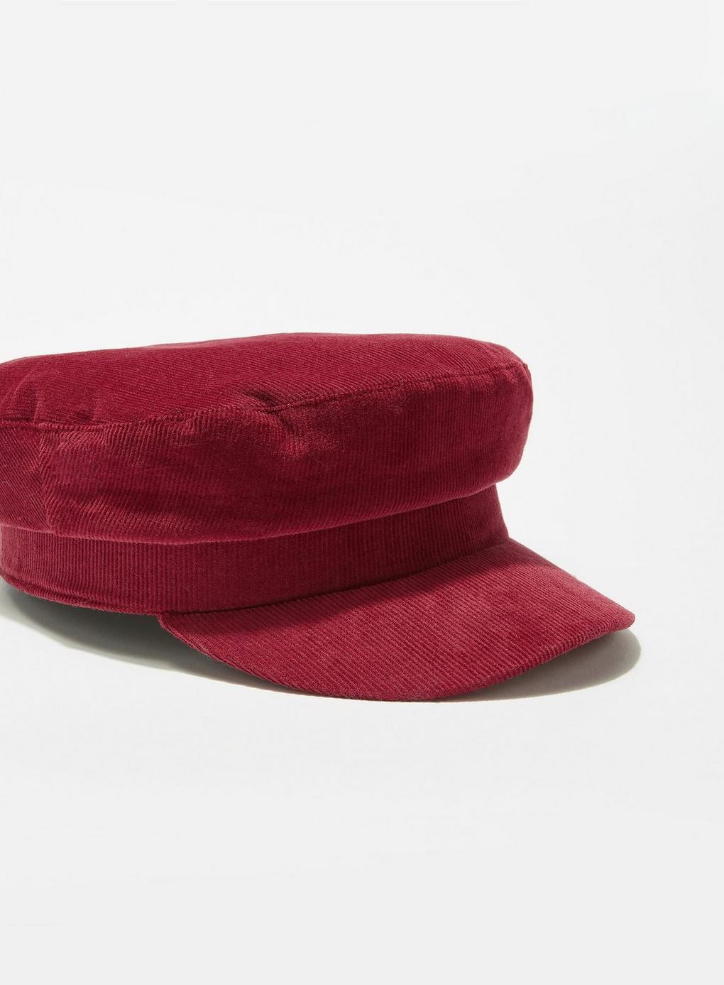 633e8b30574 Miss Selfridge - Red Burgundy Corduroy Baker Boy Hat - Lyst. View fullscreen