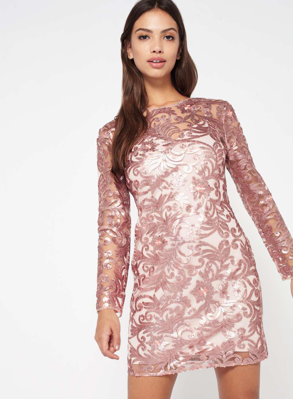 Perfecto Gold Glitter Cocktail Dress Ideas Ornamento Elaboración ...