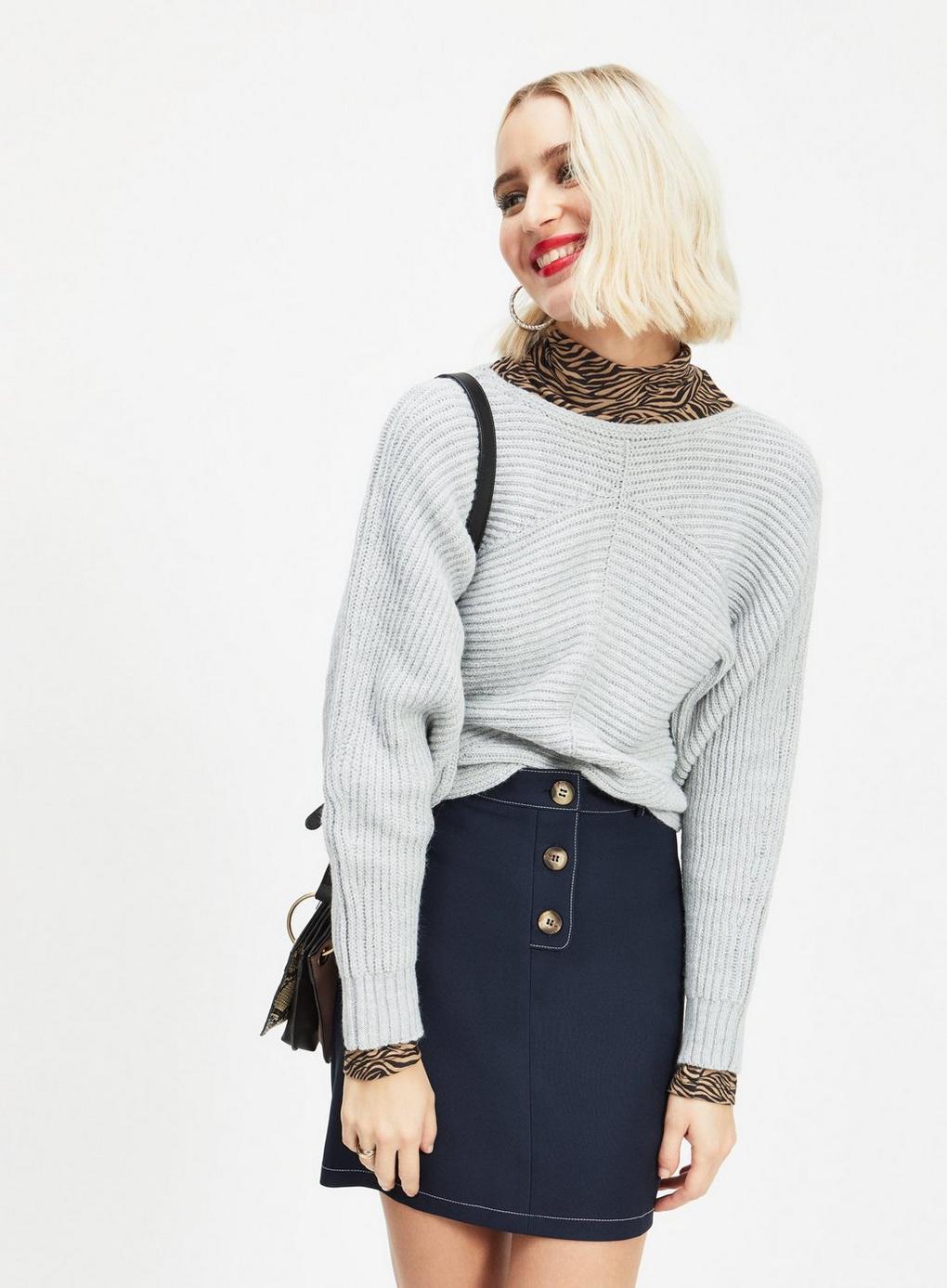 0ef40a37d4 Miss Selfridge Navy Horn Button Mini Skirt in Blue - Save 30% - Lyst