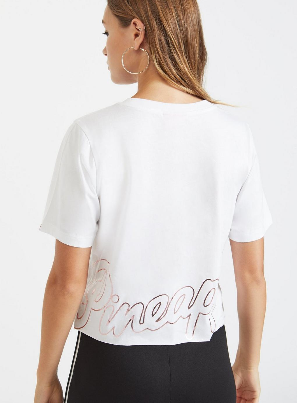ec3d023601d54 Miss Selfridge - Pineapple White Cropped T-shirt - Lyst. View fullscreen