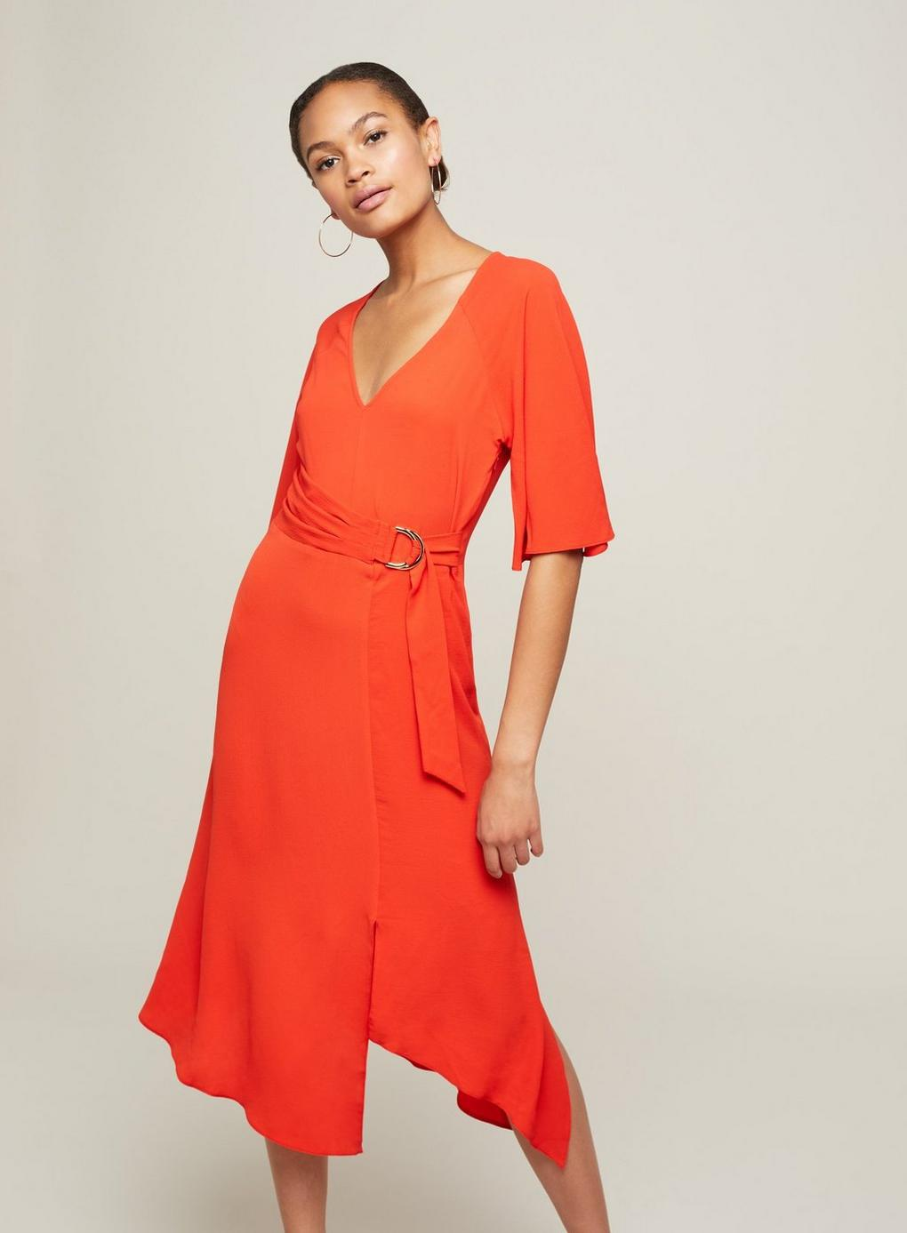 daf8f53059 Miss Selfridge Red D-ring Midi Dress in Red - Lyst