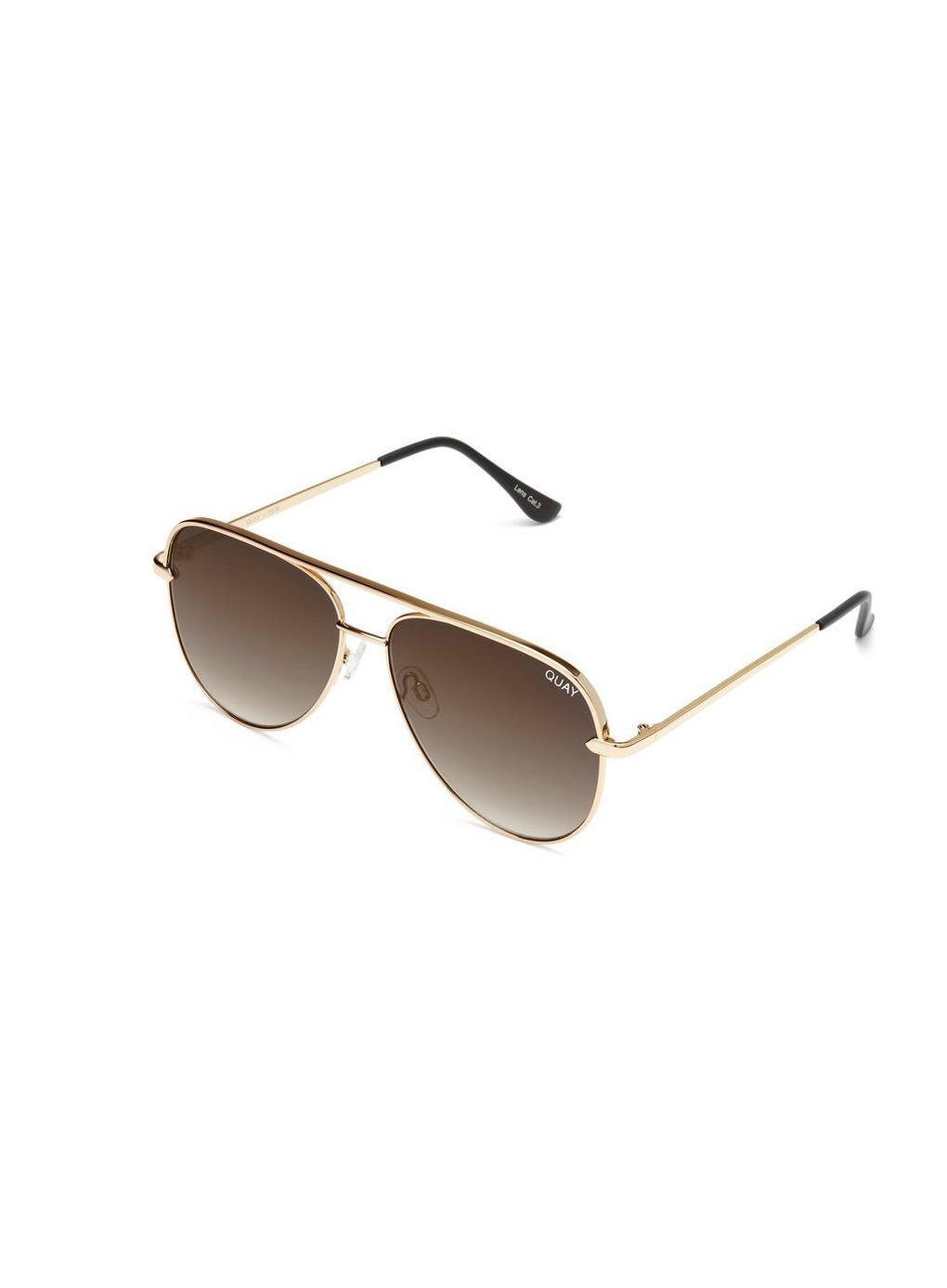 778bd26fcc ... Metallic Quay Australia Sahara Matte Gold taupe Aviator Sunglasses -  Lyst. View fullscreen