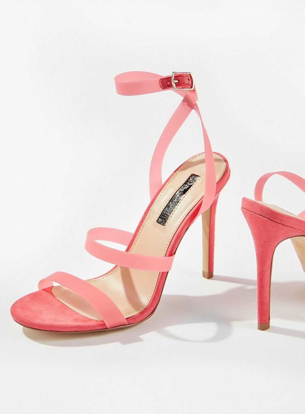 7083bb6ab56c Miss Selfridge - Pink Samia Perspex Sandals - Lyst. View fullscreen