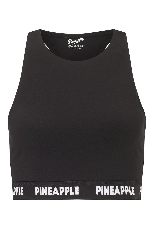 6ec18a3199f05 Lyst - Miss Selfridge Pineapple Black Mono Elastic 90 s Crop Top in ...