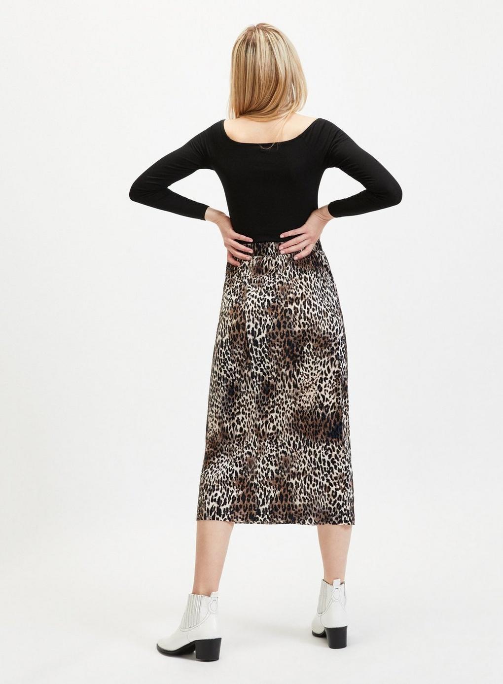 Miss Selfridge - Multicolor Leopard Print Plisse Midi Skirt - Lyst. View  fullscreen 7123f3f0d