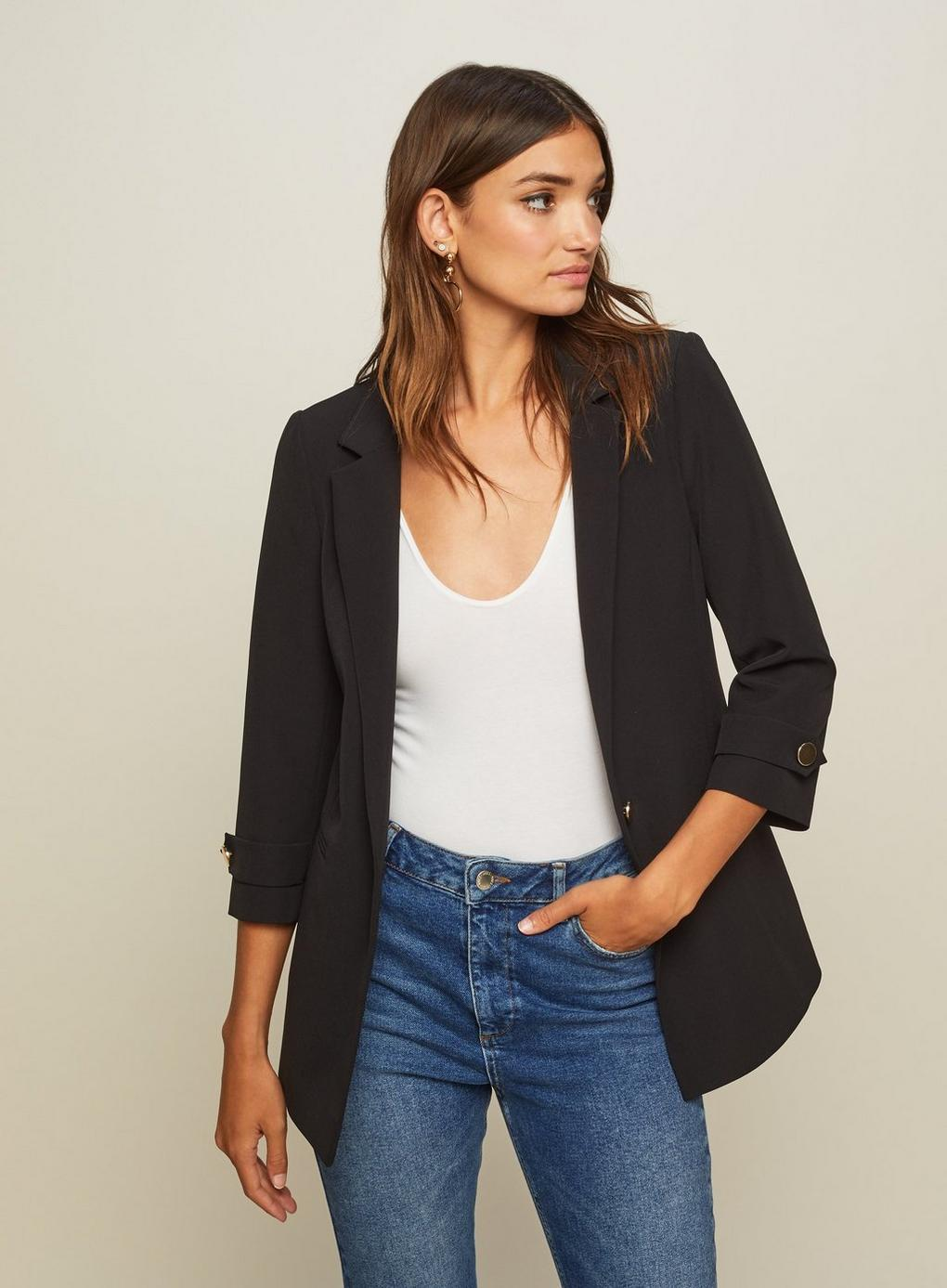 Selfridge Sleeve Tab In Blazer Black Lyst Miss dq4SS