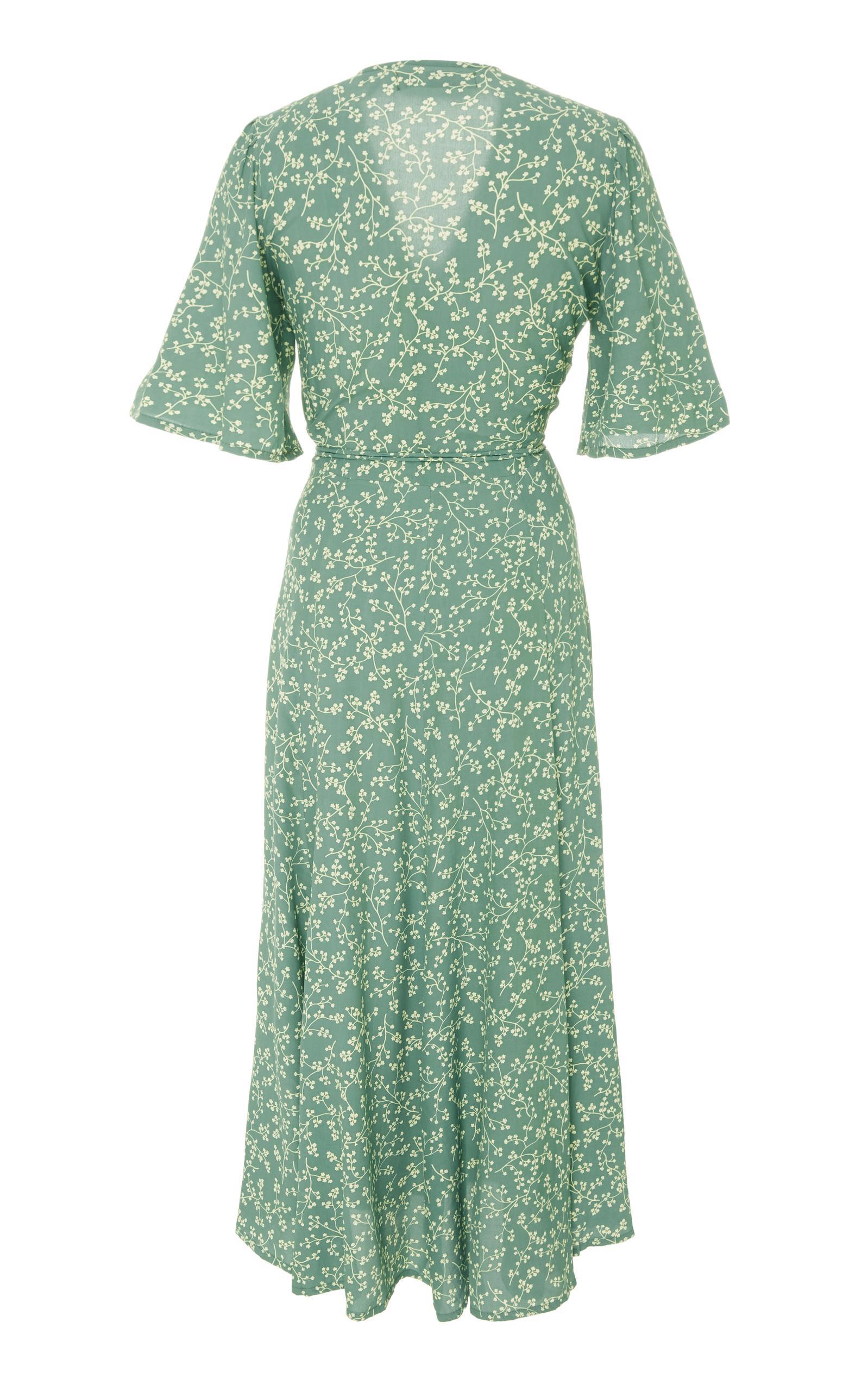 77091e53a6c1 Faithfull The Brand Rivera Midi Dress in Green - Lyst