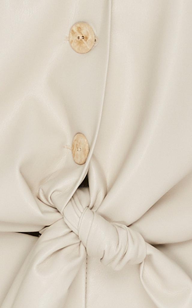 4136e06dfc87 Nanushka - White Ana Tie Front Vegan Leather Jumpsuit - Lyst. View  fullscreen
