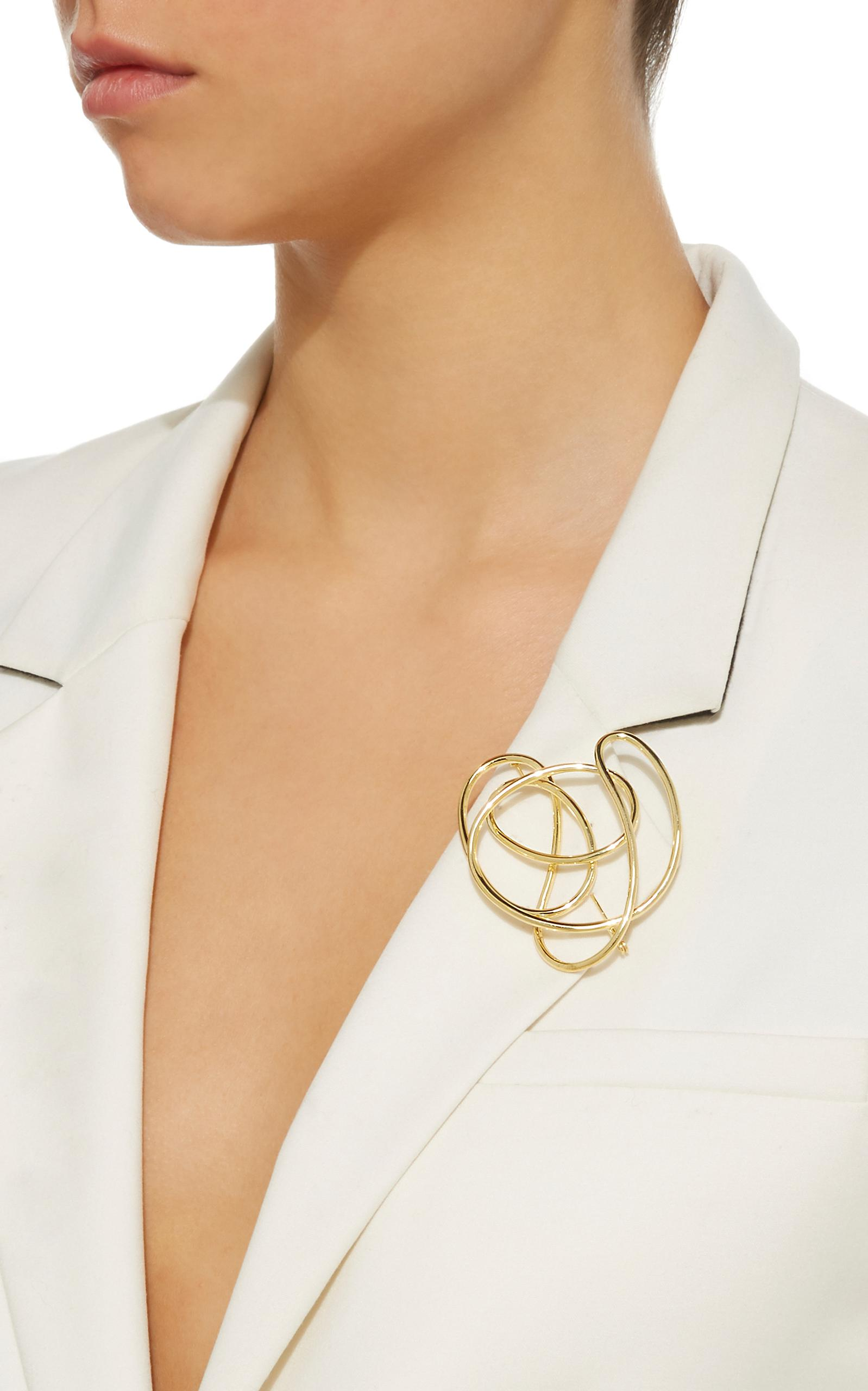 Gold-Plated Knot Brooch Joanna Laura Constantine F5AMVthCVn