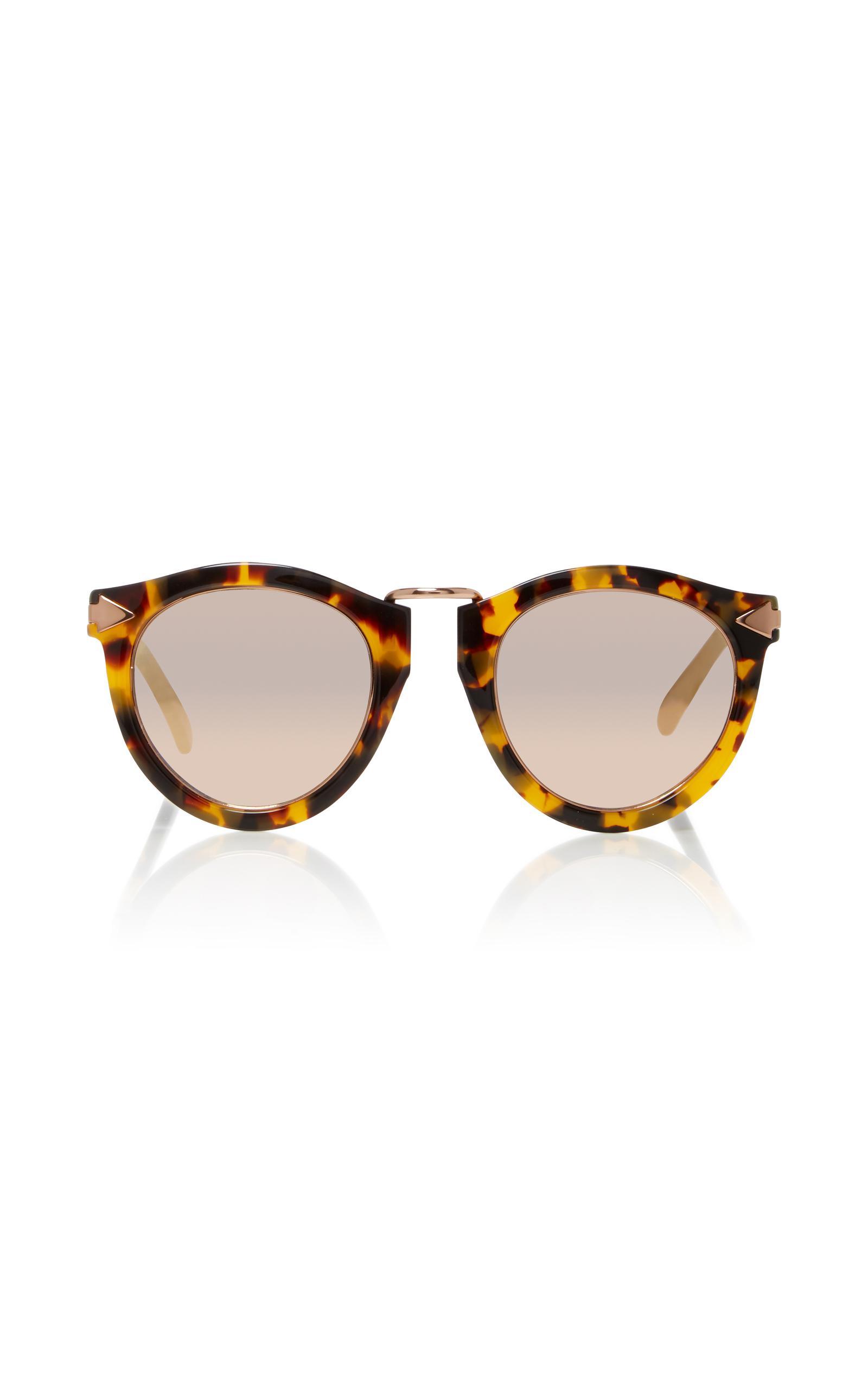 Harvest Rose Gold-Tone Metal and Tortoiseshell Acetate Sunglasses Karen Walker ro3SrEc2