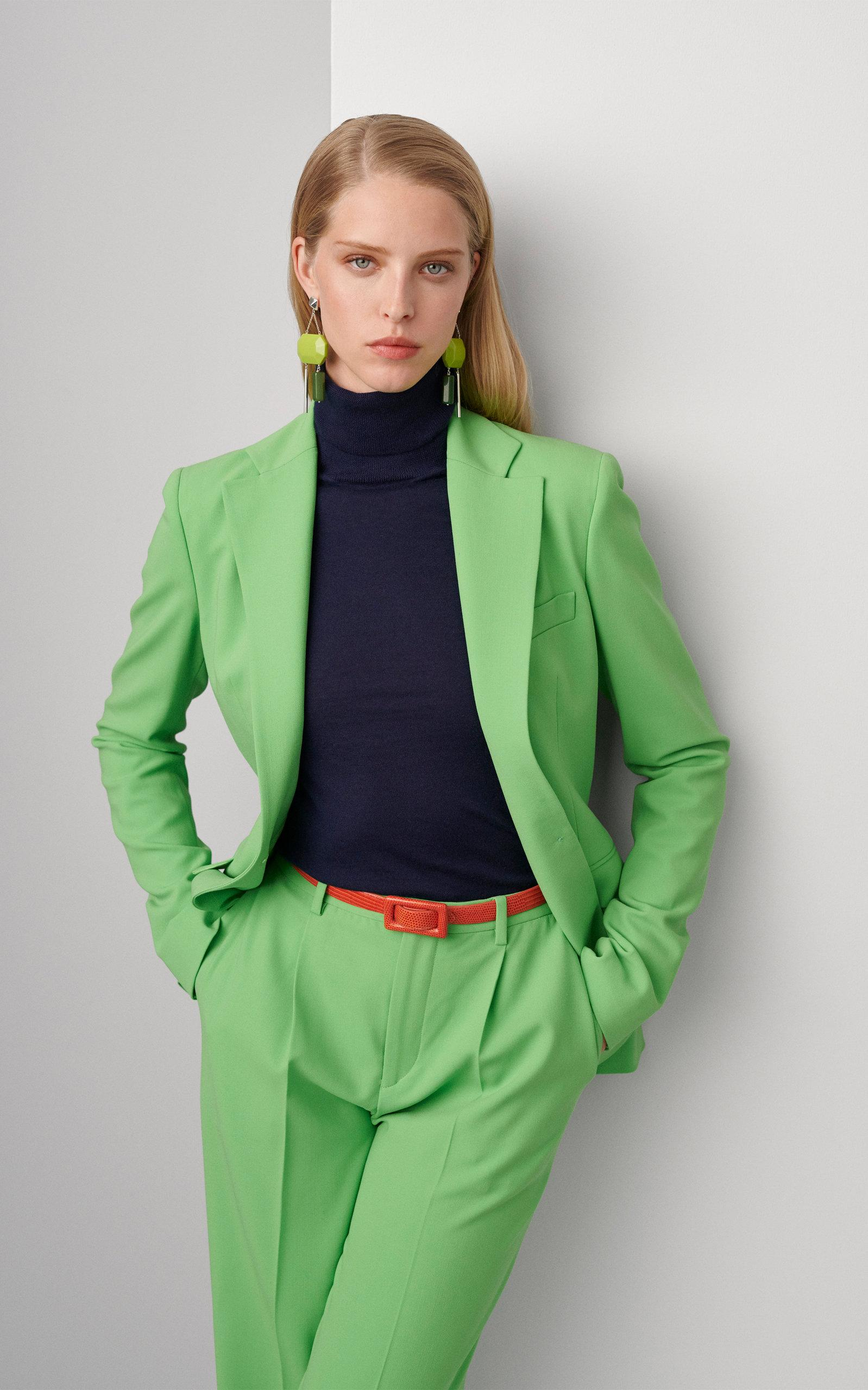 ca0a788e80 Ralph Lauren - Green Winnifred Wool Crepe High-rise Wide-leg Pants - Lyst.  View fullscreen