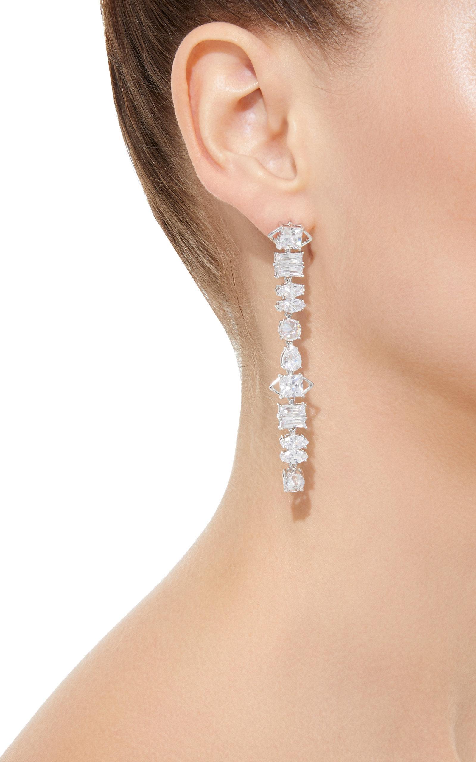 fc9f561cc Fallon Jagged Edge Earrings in Metallic - Lyst