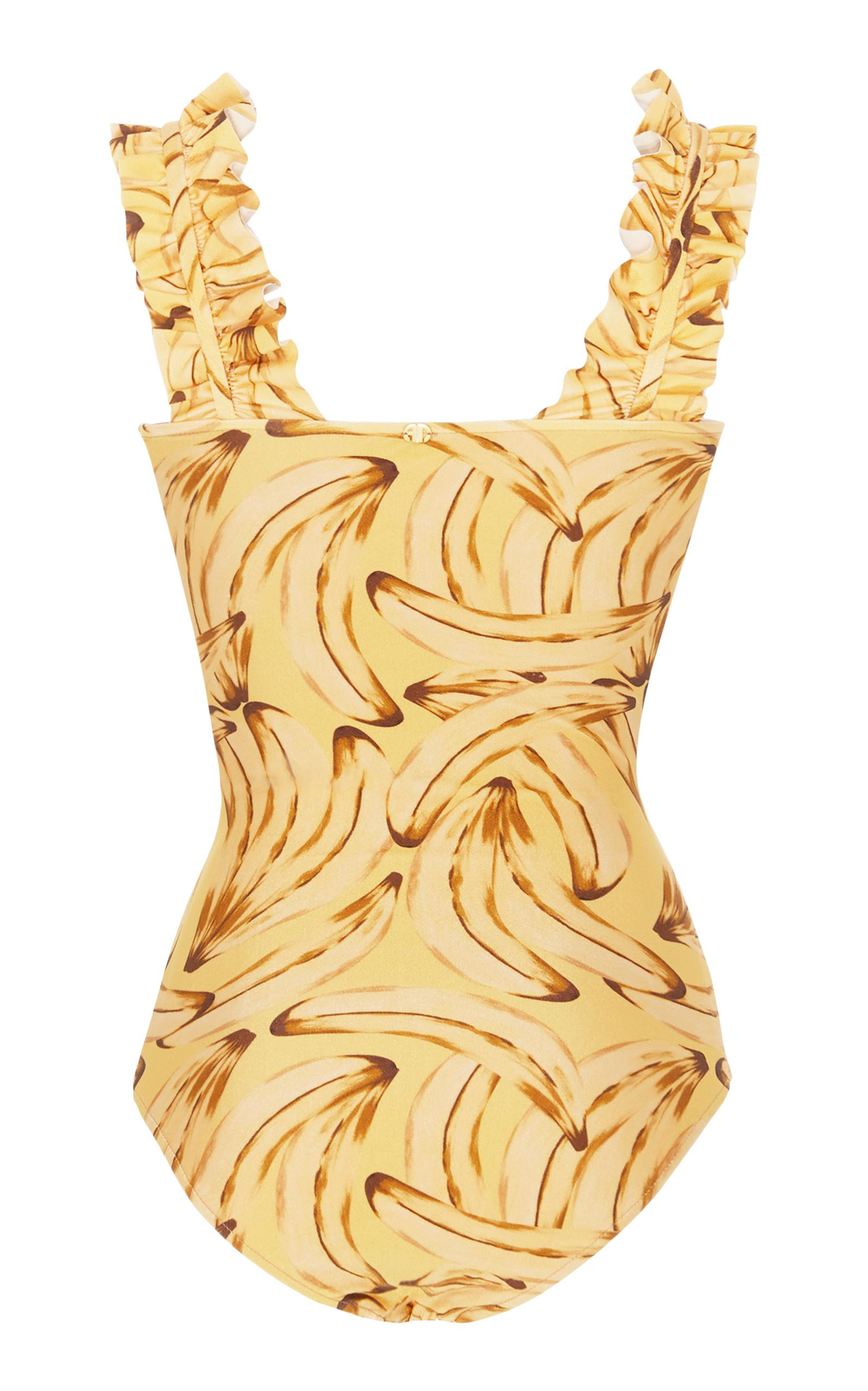 Très En Ligne Vente Pas Cher Choisir Un Meilleur Adriana Degreas Muse Print Swimsuit With Ruffles vedTWEDyg