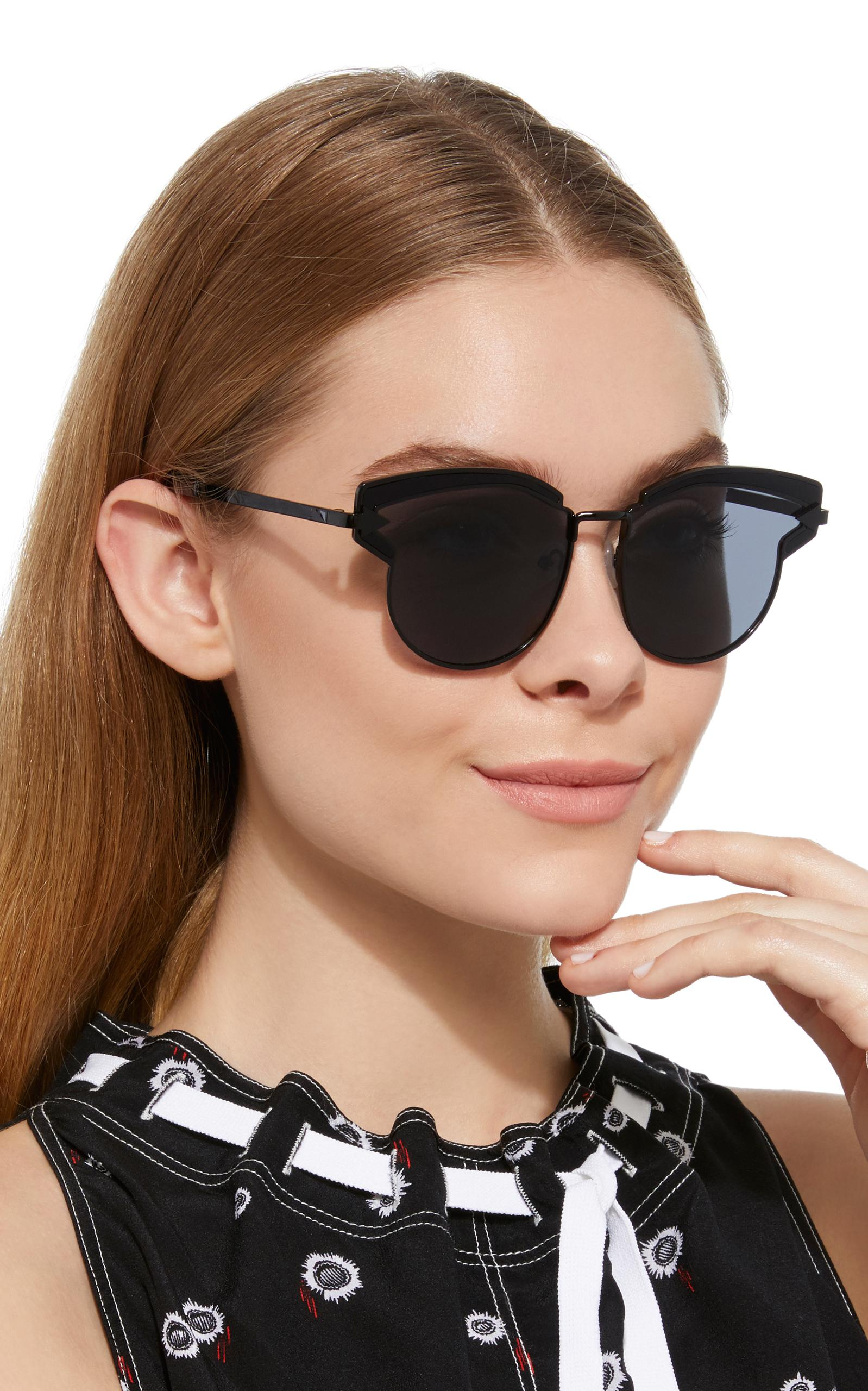 3267ce0af30 Karen Walker Superstar Felipe Cat-eye Acetate Sunglasses in Black - Lyst