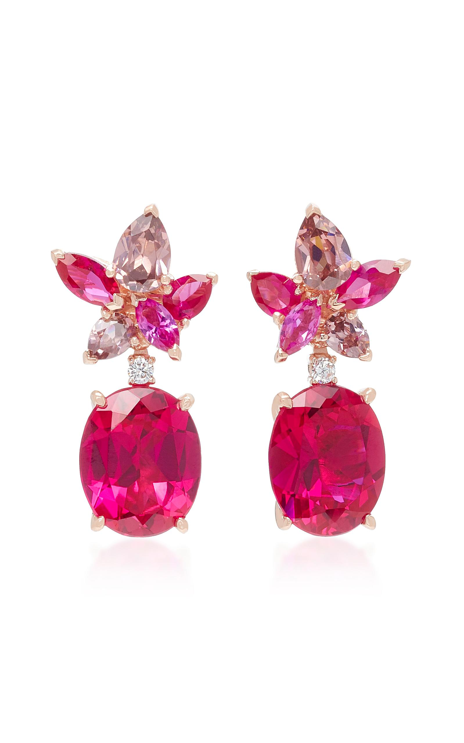 Mo Exclusif: Rubis Coralbell Boucles D'oreilles Anabela Chan SL4qc