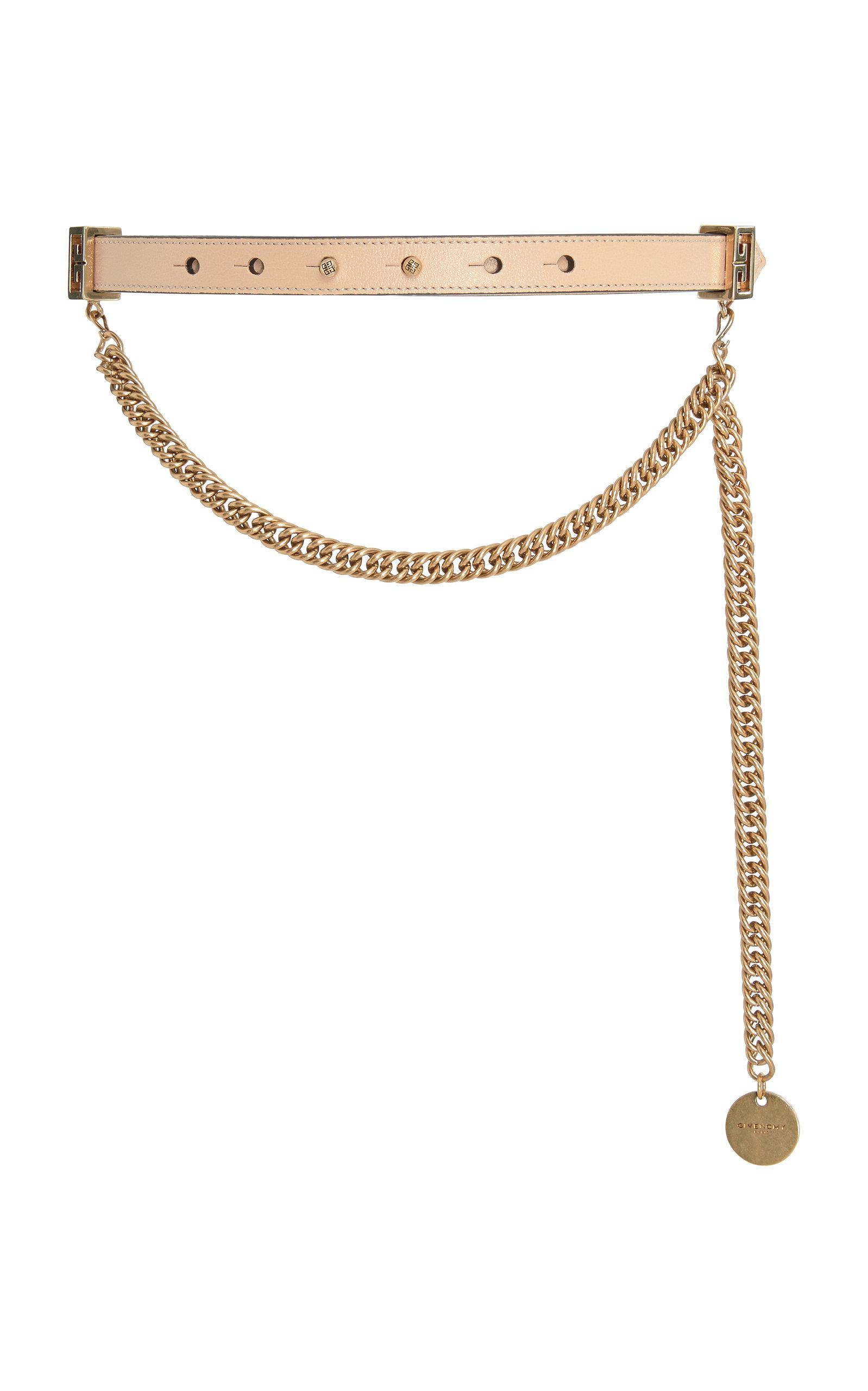 Chain-Trimmed Leather Waist Belt Givenchy JR0fdcyAA