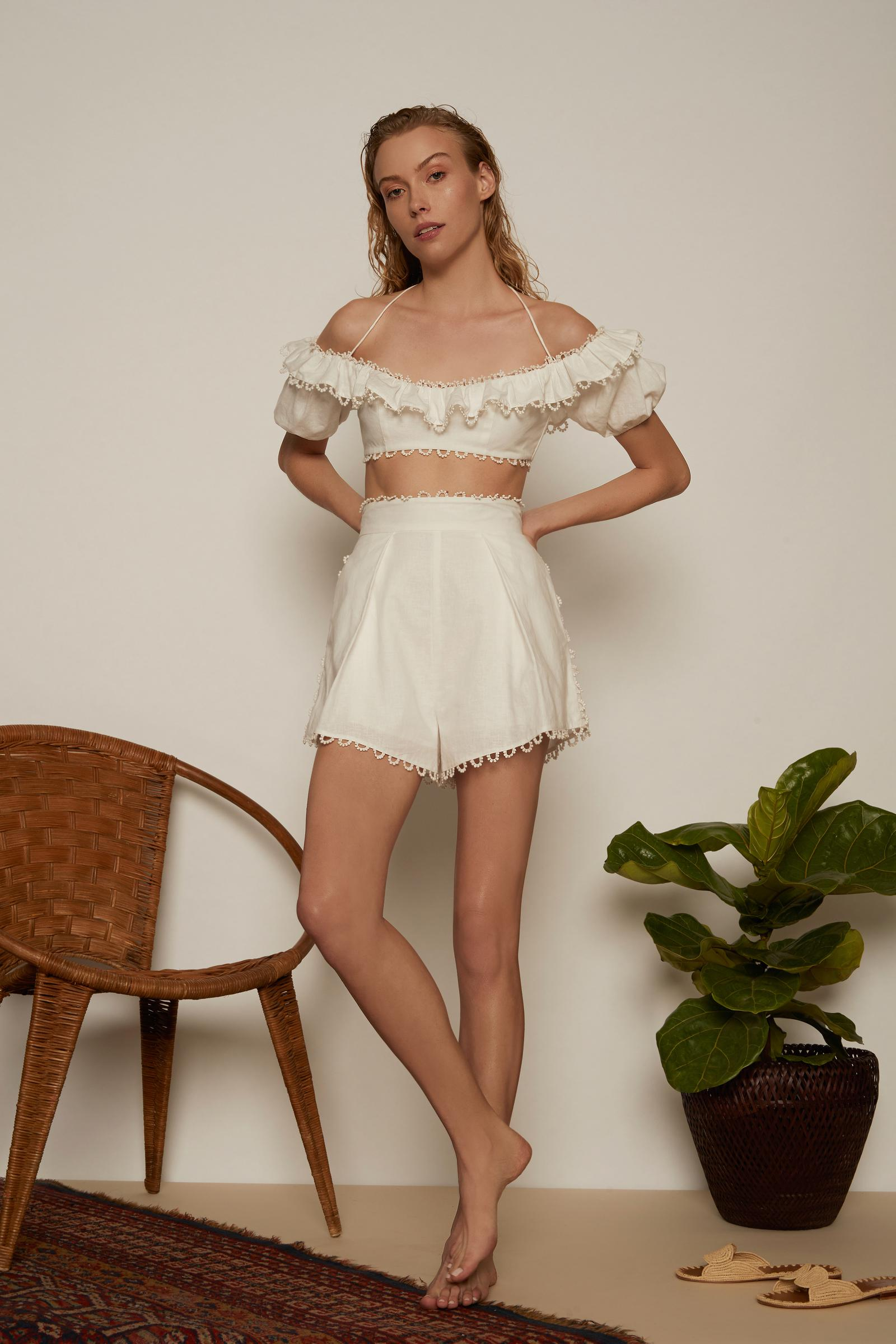 30c3d89164cb7a Zimmermann Melody Off The Shoulder Top in White - Lyst