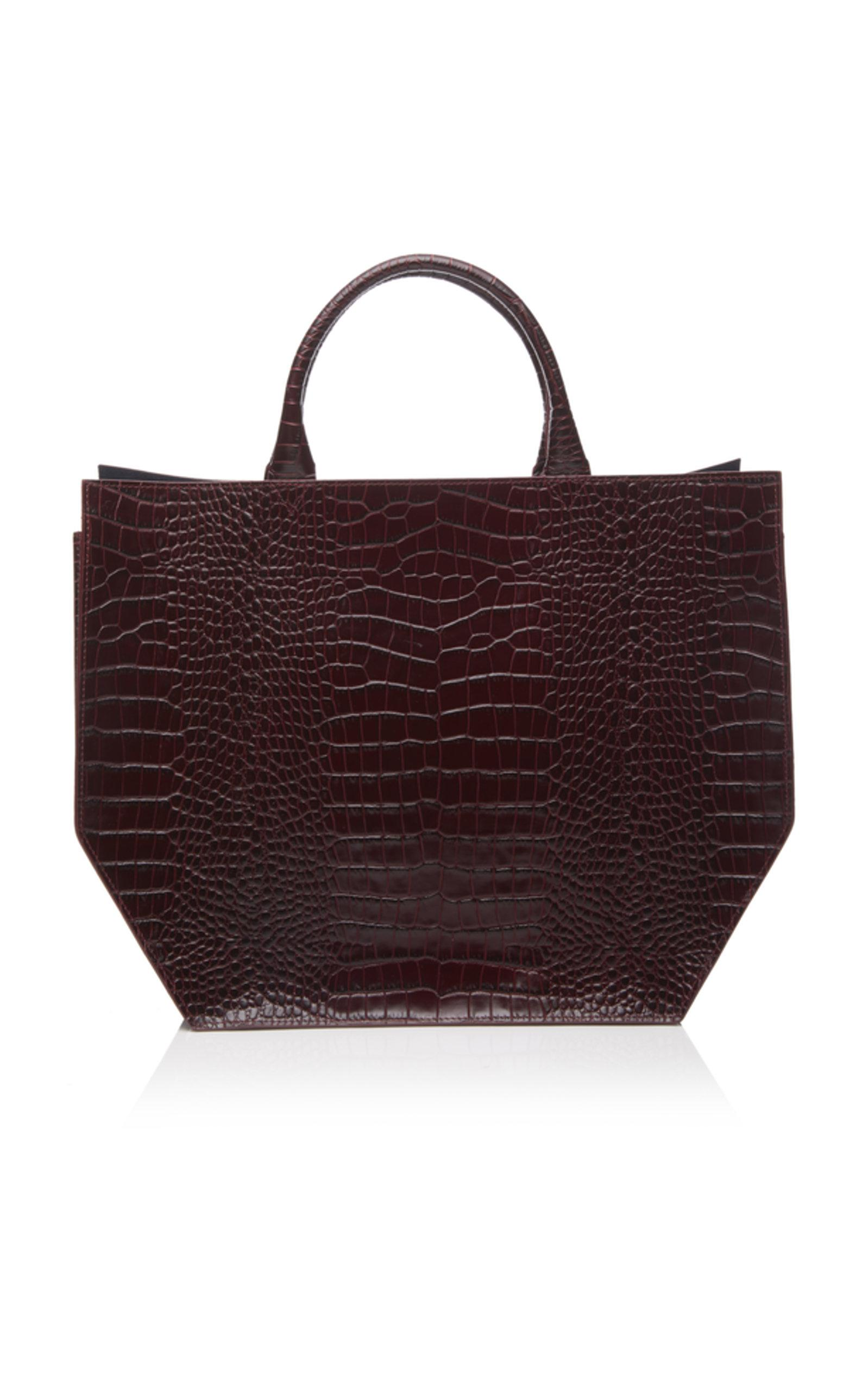 Crocodile Embossed Collapsible Tote Trademark ciZyPH29